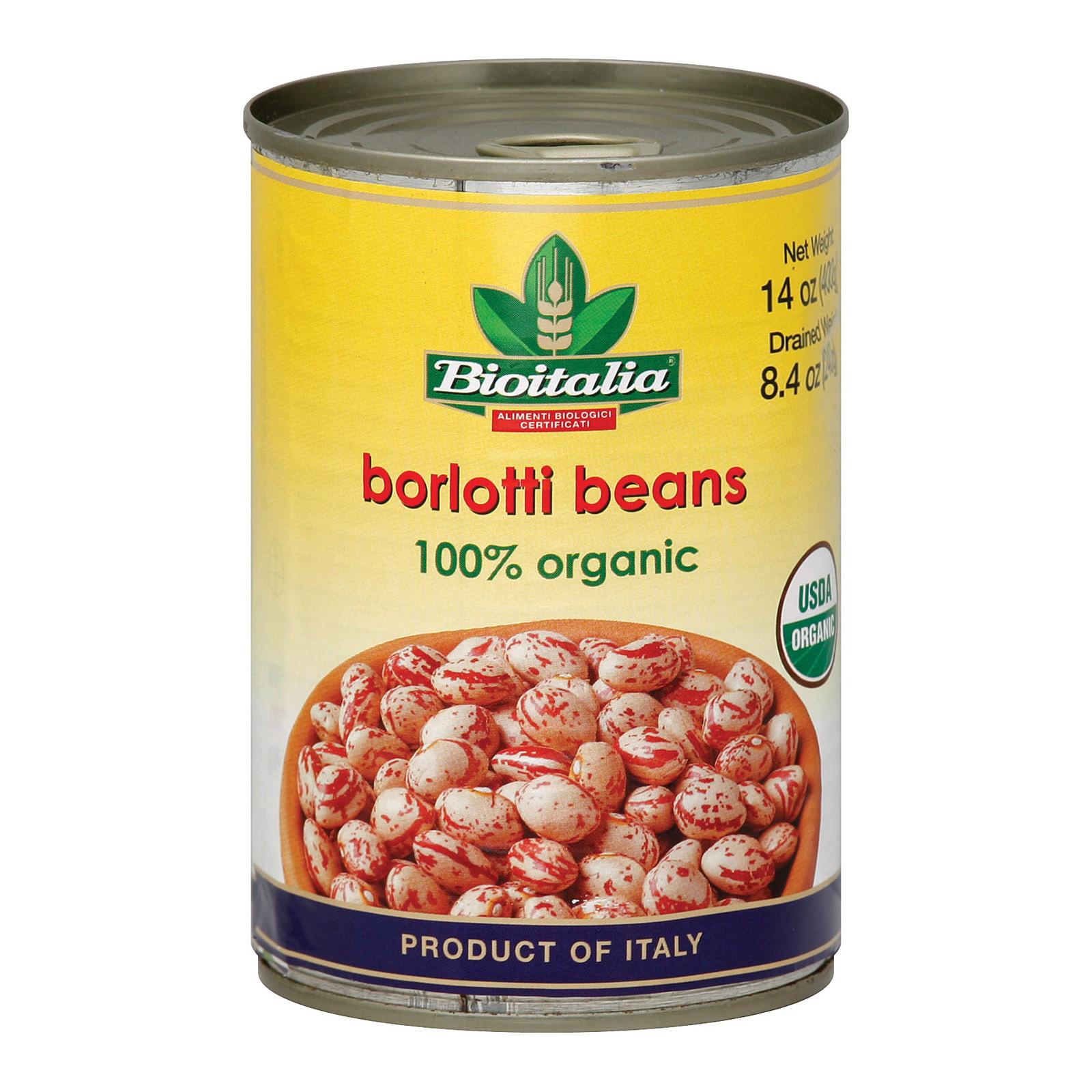 Bioitalia Beans - Borlotti Beans - Case of 12 - 14 oz.