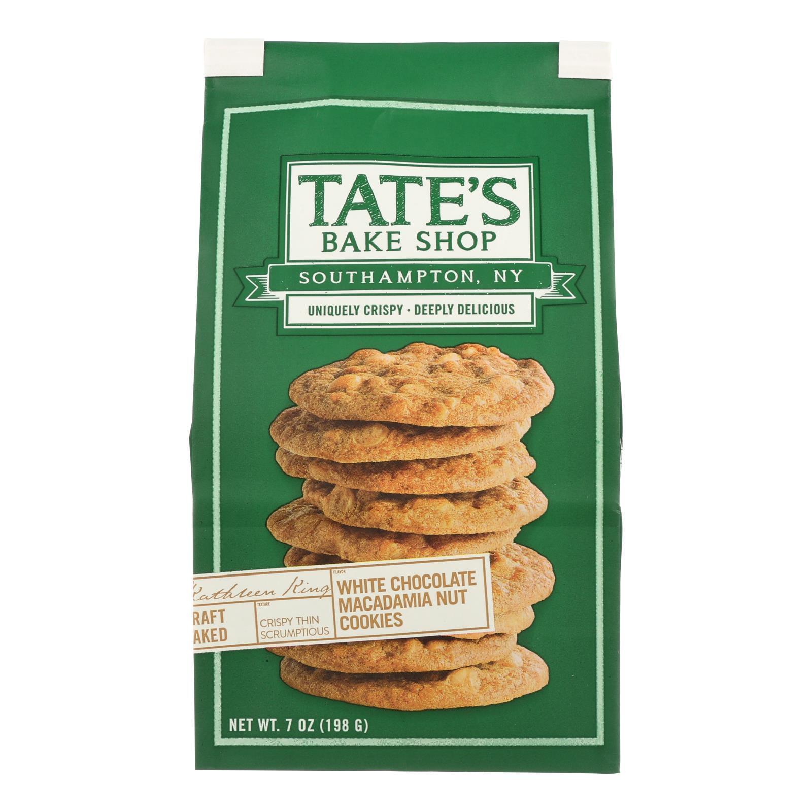 Tate's Bake Shop White Chocolate Macadamia Nut Cookies - Case of 12 - 7 oz.