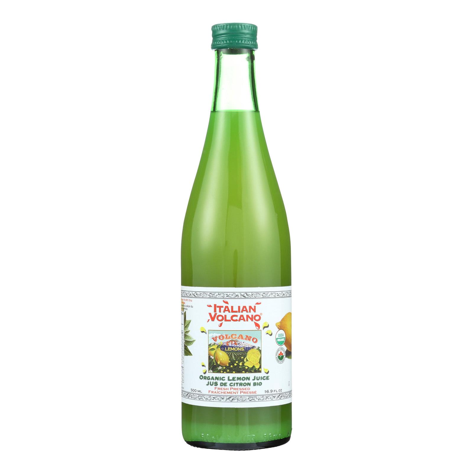 Volcano Bursts Organic Juice - Lemon - Case of 12 - 16.9 Fl oz.