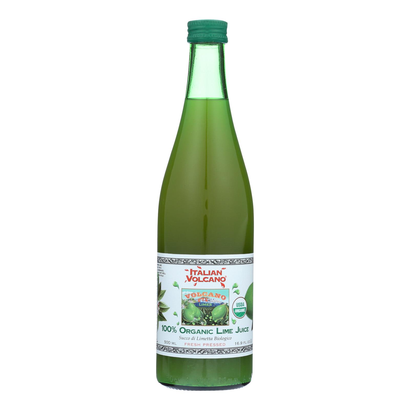 Volcano Bursts Organic Juice - Lime - Case of 12 - 16.9 Fl oz.