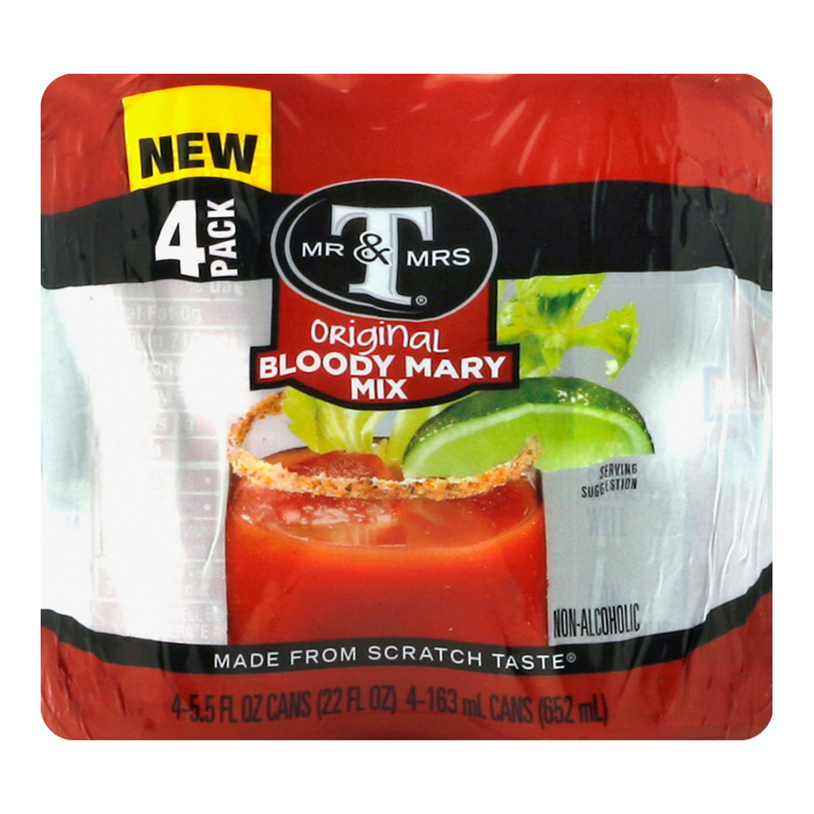 Mr and Mrs T Cocktail Mix - Bloody Mary - Case of 6 - 4/5.5 fl oz
