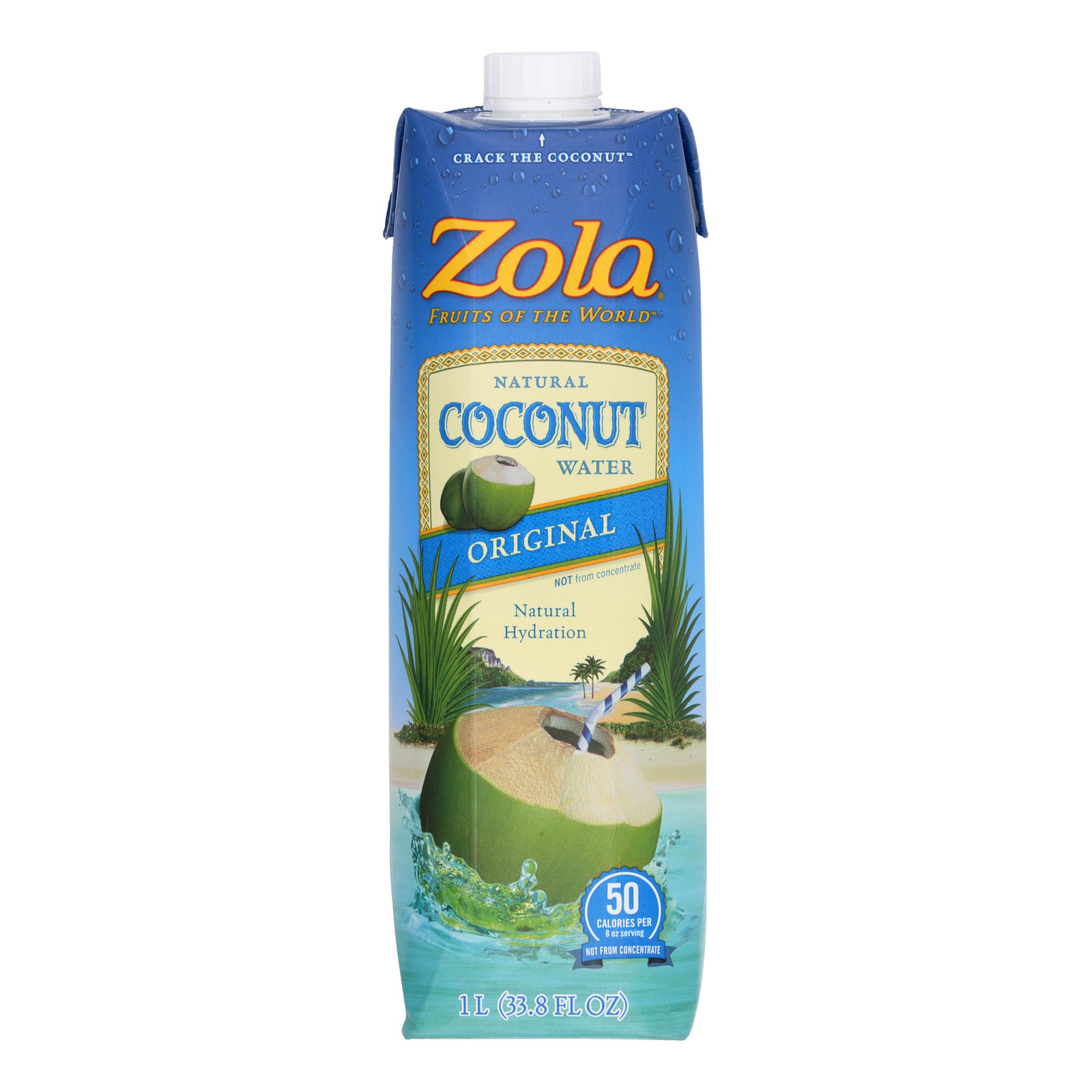 Zola Acai Coconut Water - Natural - Case of 12 - 33.8 Fl oz.