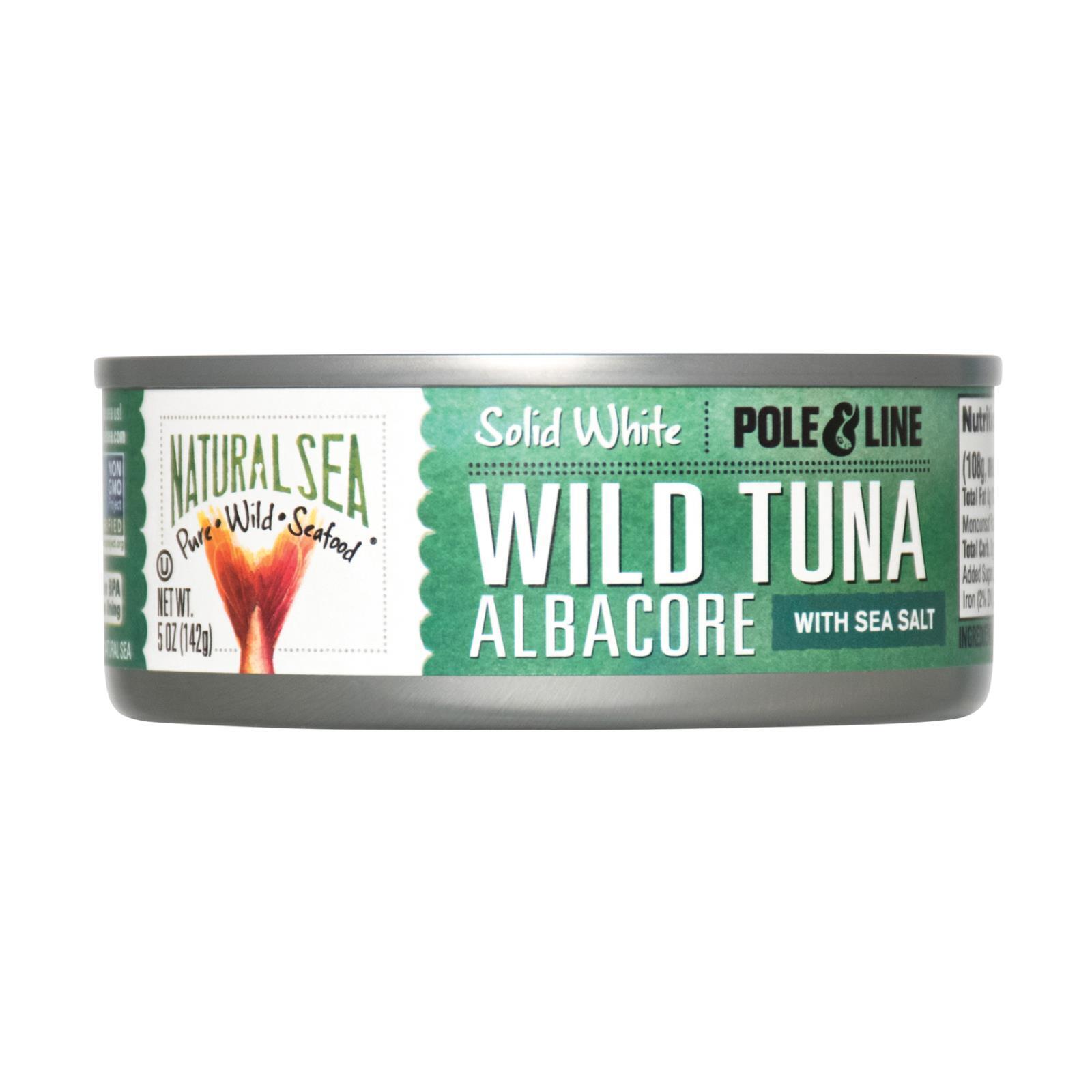 Natural Sea Wild Albacore Tuna - With Sea Salt - Case of 12 - 5 oz.