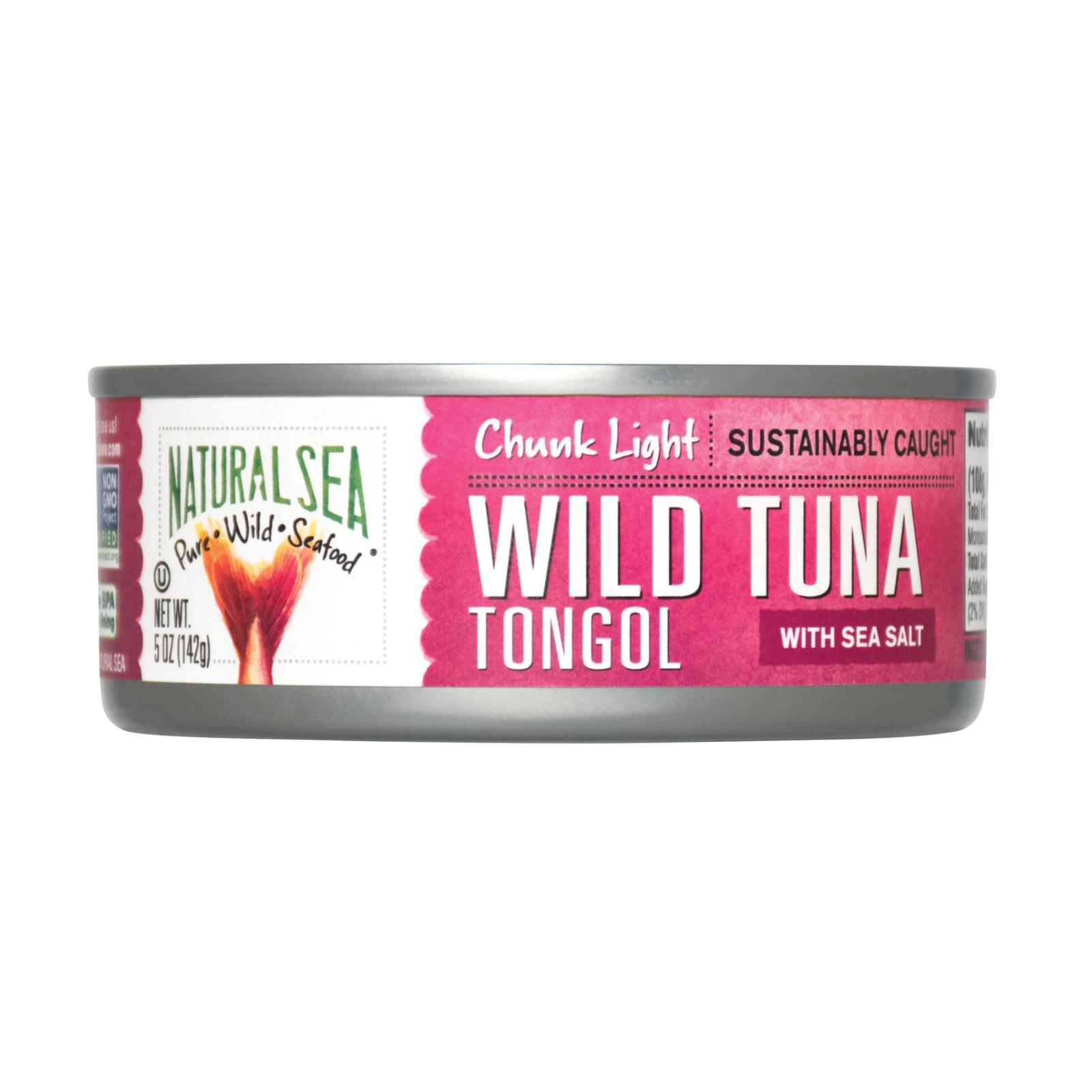 Natural Sea Wild Tongol Tuna - With Sea Salt - Case of 12 -  5 oz.