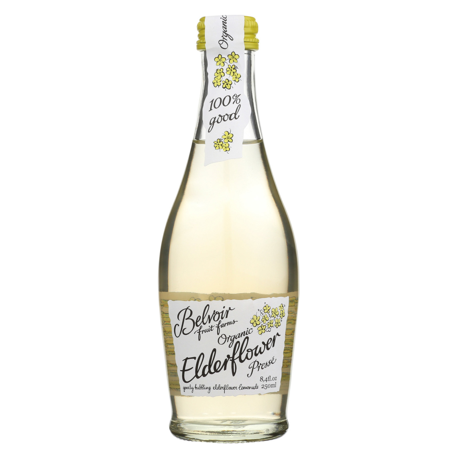 Belvoir Beverage - Organic - Elderflower - Presse - Case of 24 - 8.45 fl oz