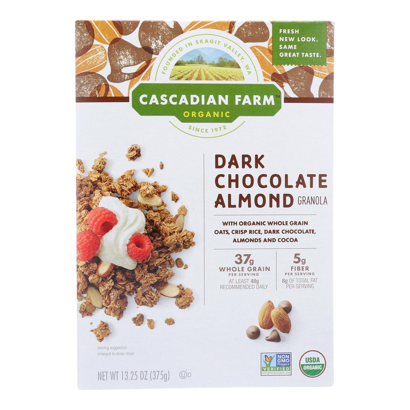 Cascadian Farm Granola - Organic - Dark Chocolate Almond - 13.25 oz - case of 6