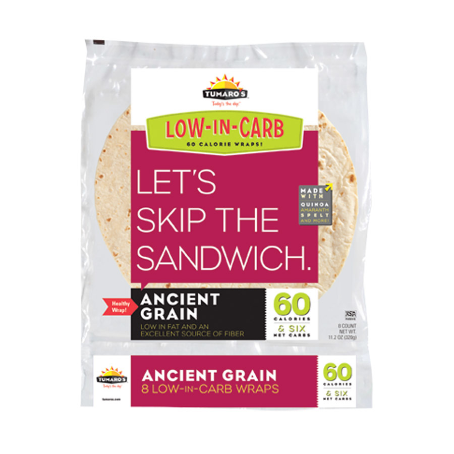 Tumaros Low-In-Carb Wraps - Ancient Grain - 8