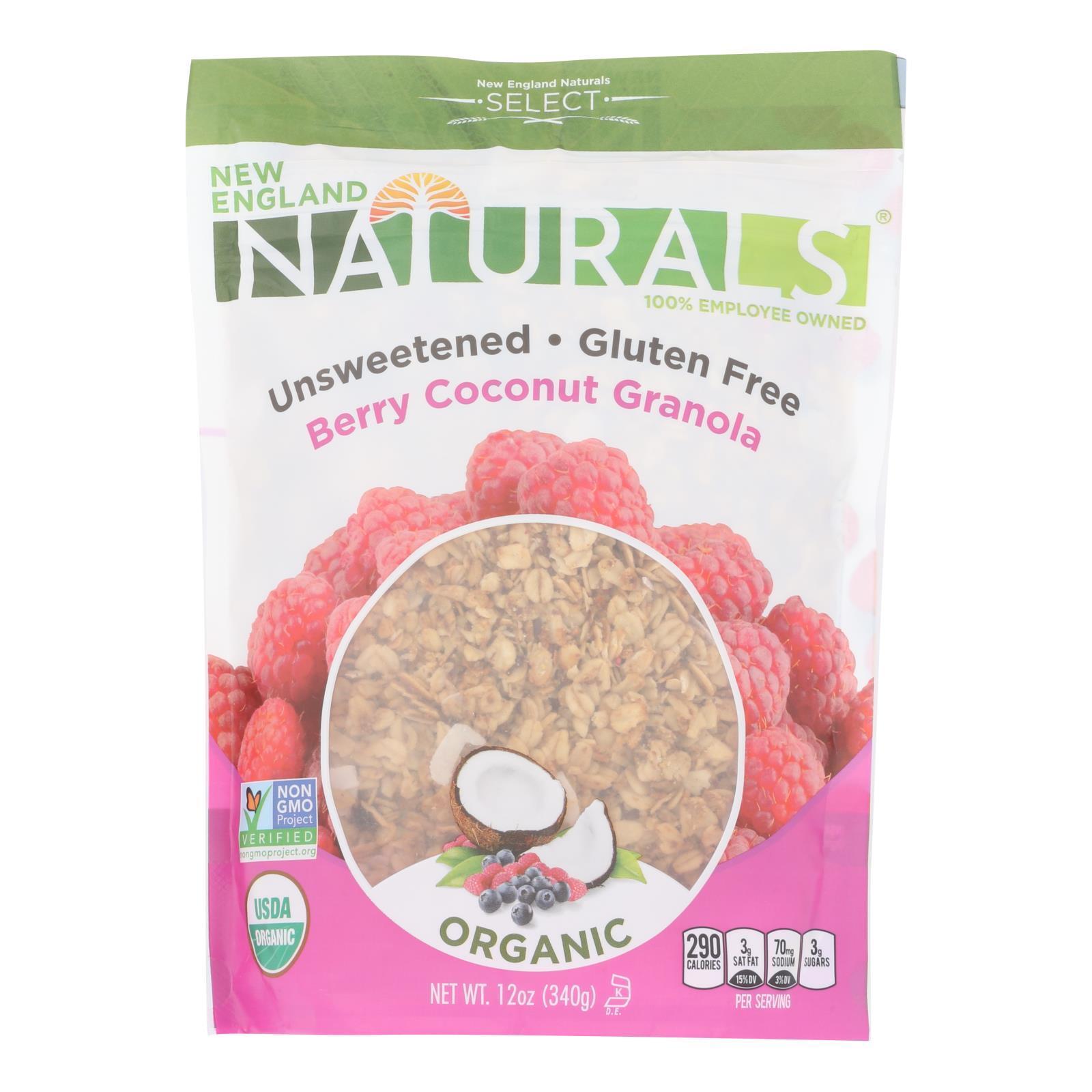 New England Naturals Organic Granola Select Berry - Coconut - Case of 6 - 12 oz.