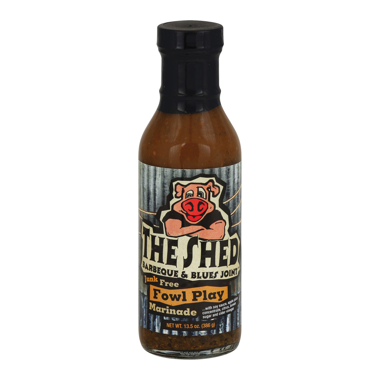 The BBQ Shed Marinade Sauce - Fowl Play - Case of 6 - 13.5 oz