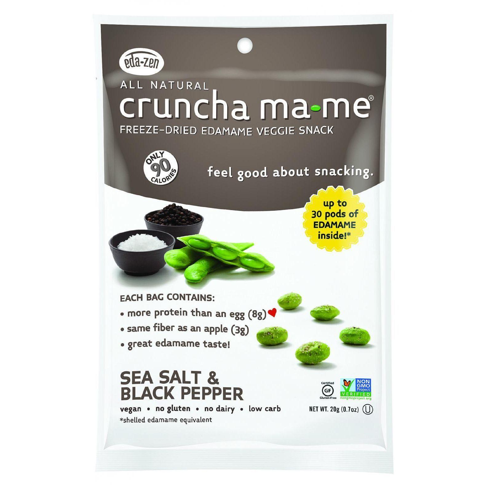 Eda-Zen Cruncha Ma Me - Sea Salt and Black Pepper - .7 oz - Case of 8