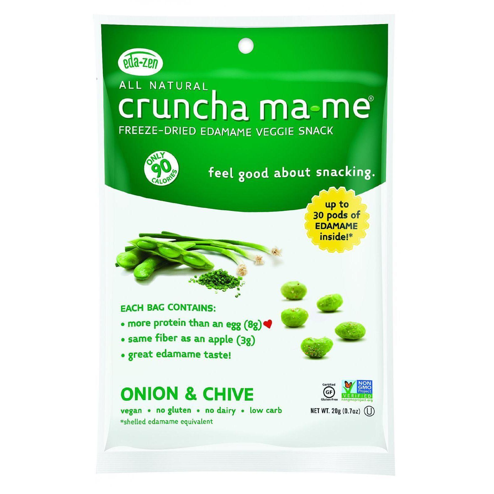 Eda-Zen Cruncha Ma Me - Onion and Chive - .7 oz - Case of 8