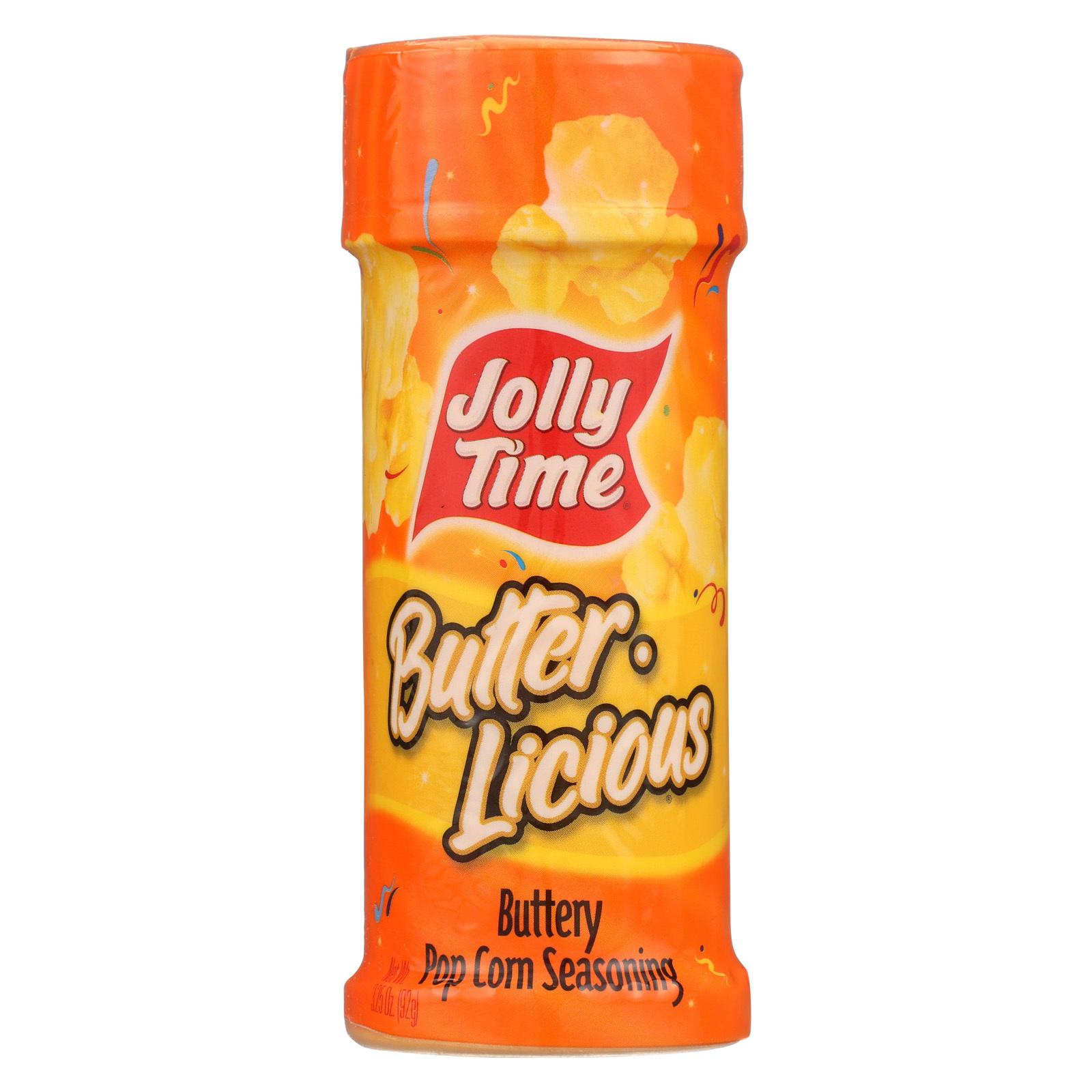 Jolly Time Popcorn Seasoning - Butter - Case of 6 - 3.25 oz