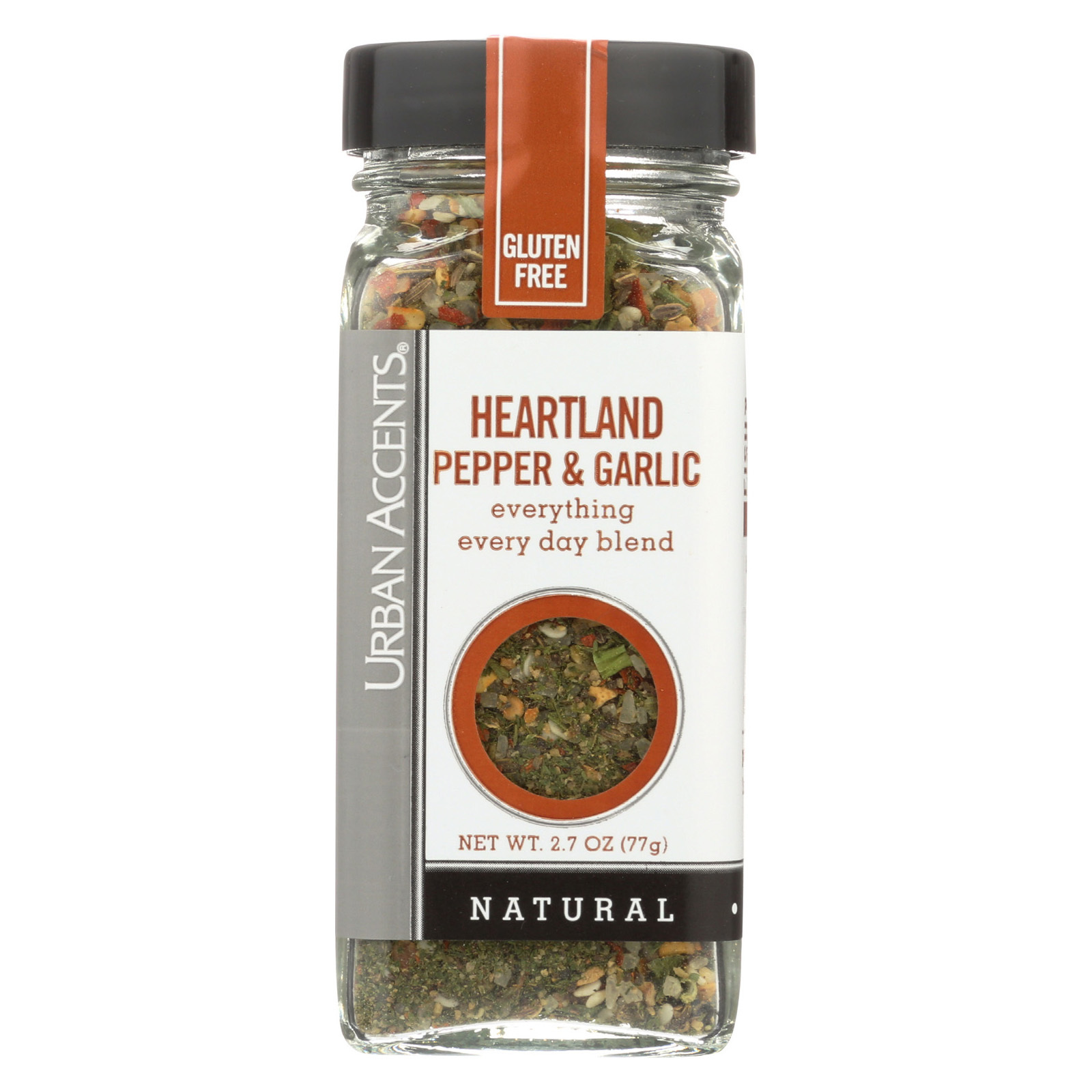 Urban Accents Spice - Heartland Pepper and Garlic - Case of 4 - 2.7 oz