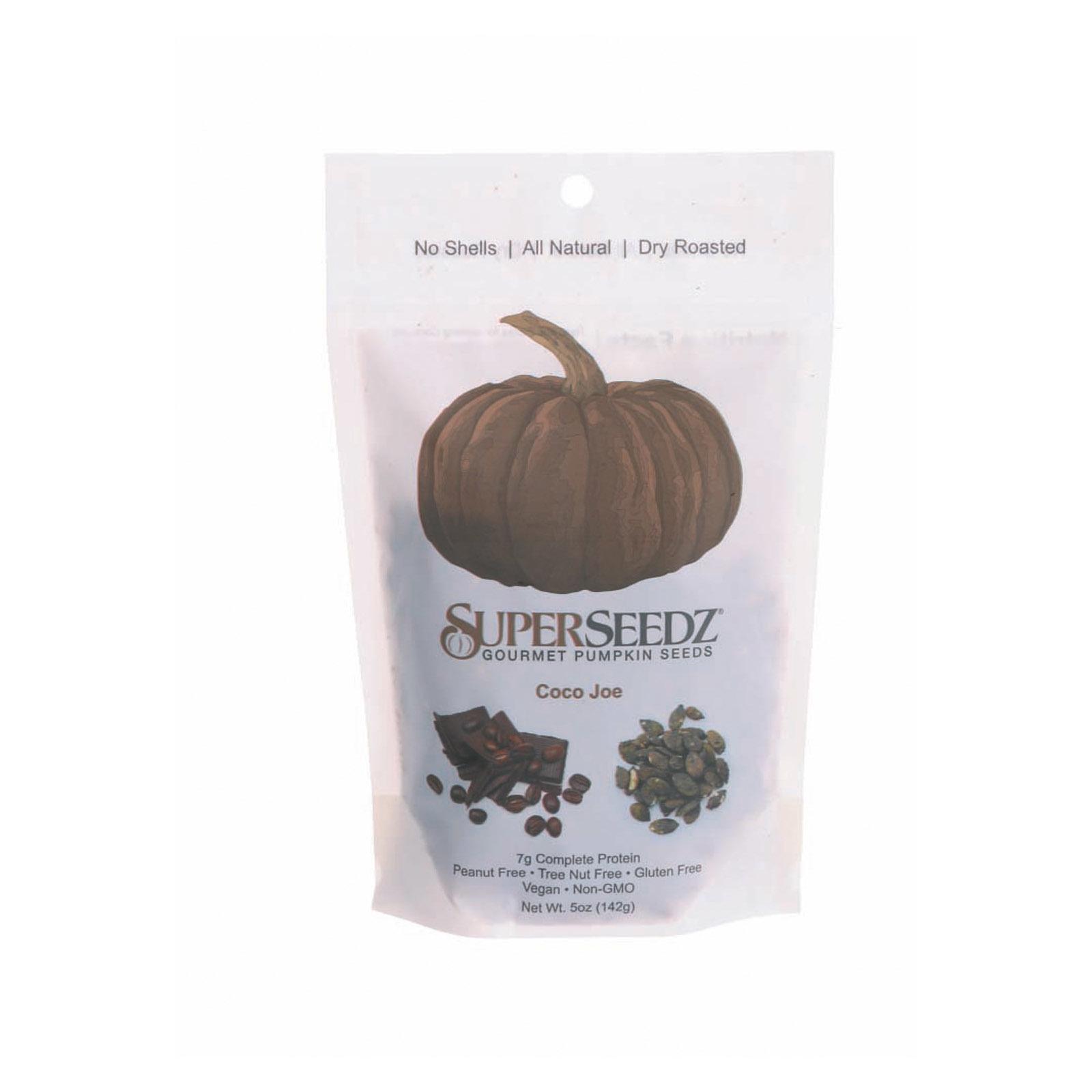 Superseedz Gourmet Pumpkin Seeds - Coco Joe - Case of 6 - 5 oz.