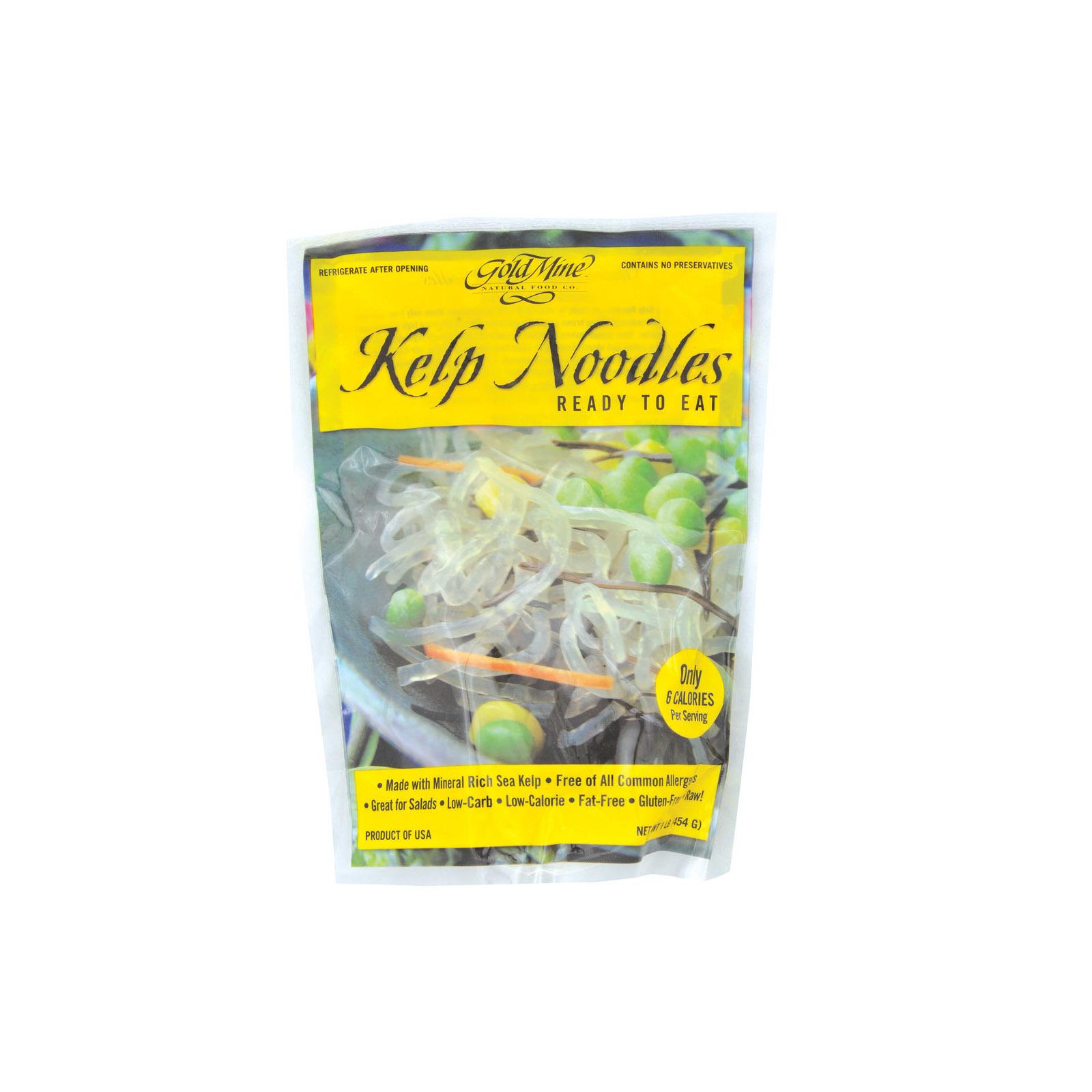 Gold Mine Kelp Noodles - Ready To Eat - Case of 12 - 1 lb.