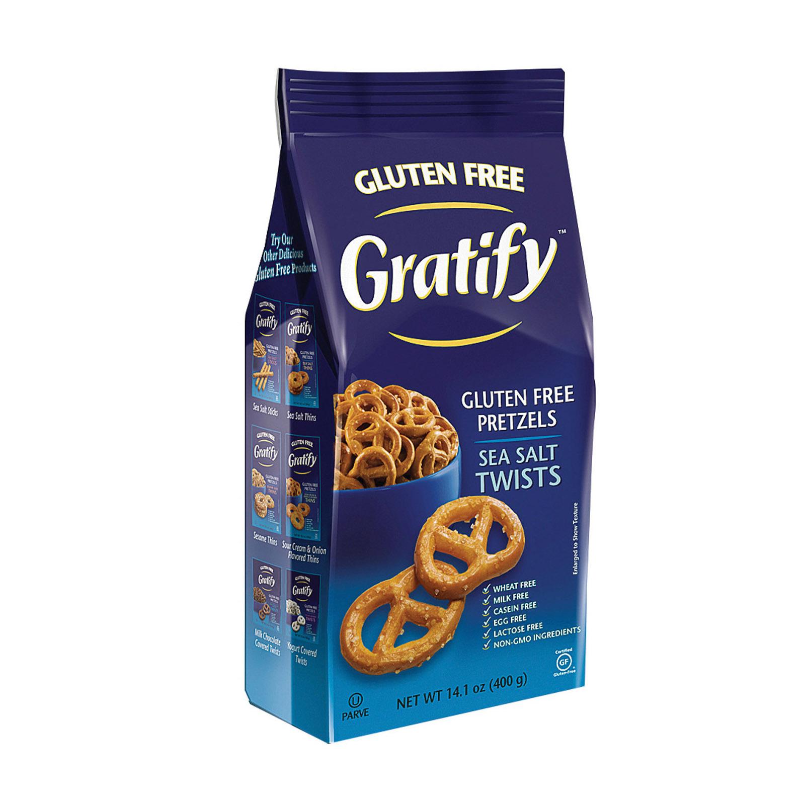 Gratify Gluten Free Twists - Sea Salt - Case of 6 - 14.1 oz.