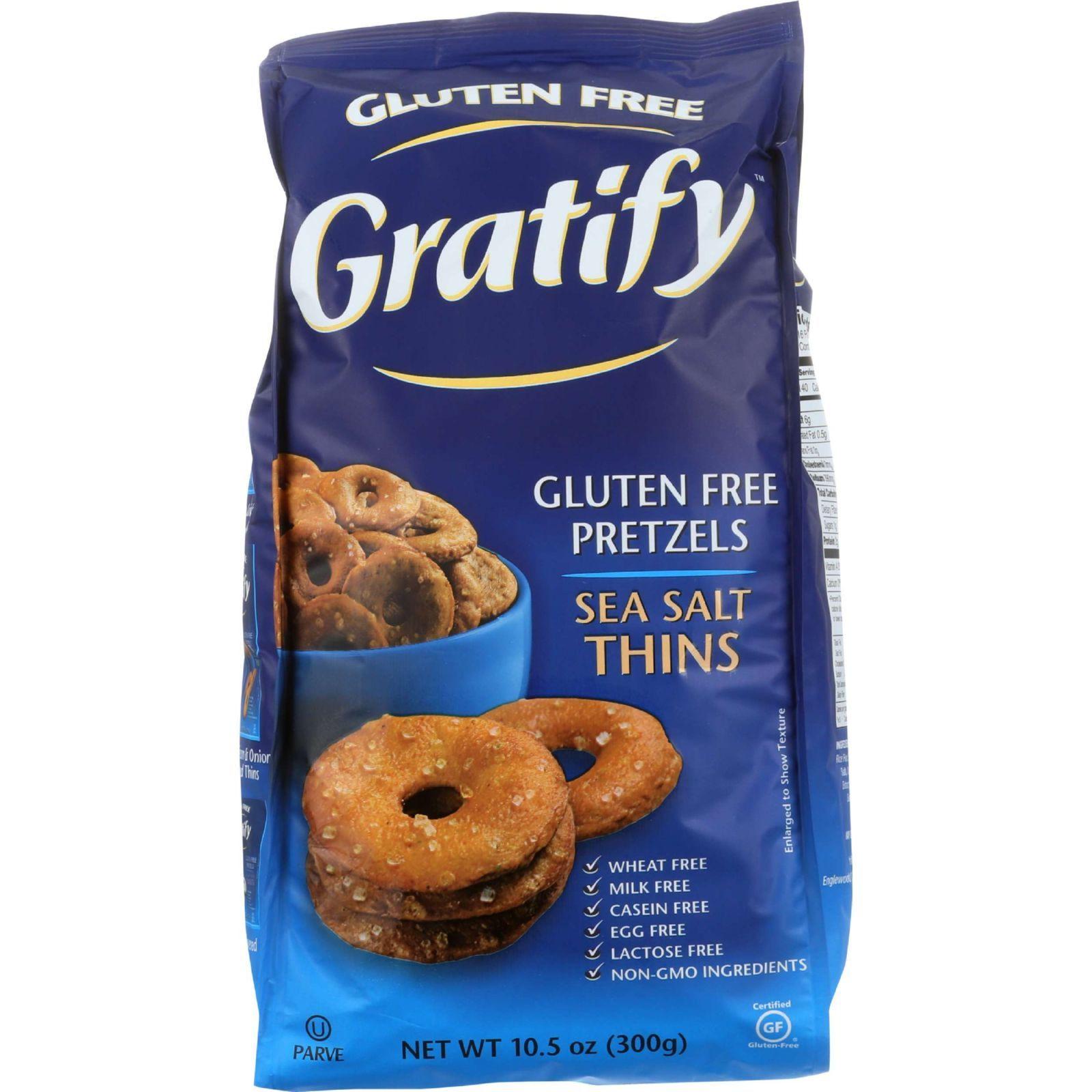 Gratify Pretzels - Thins - Sea Salt - Gluten Free - 10.5 oz - case of 6