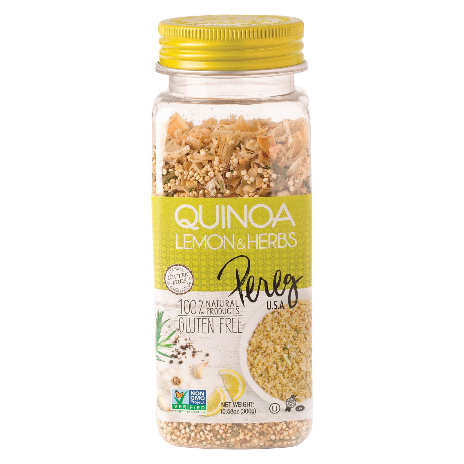 Pereg Quinoa - Lemon and Herbs - Case of 6 - 10.58 oz.