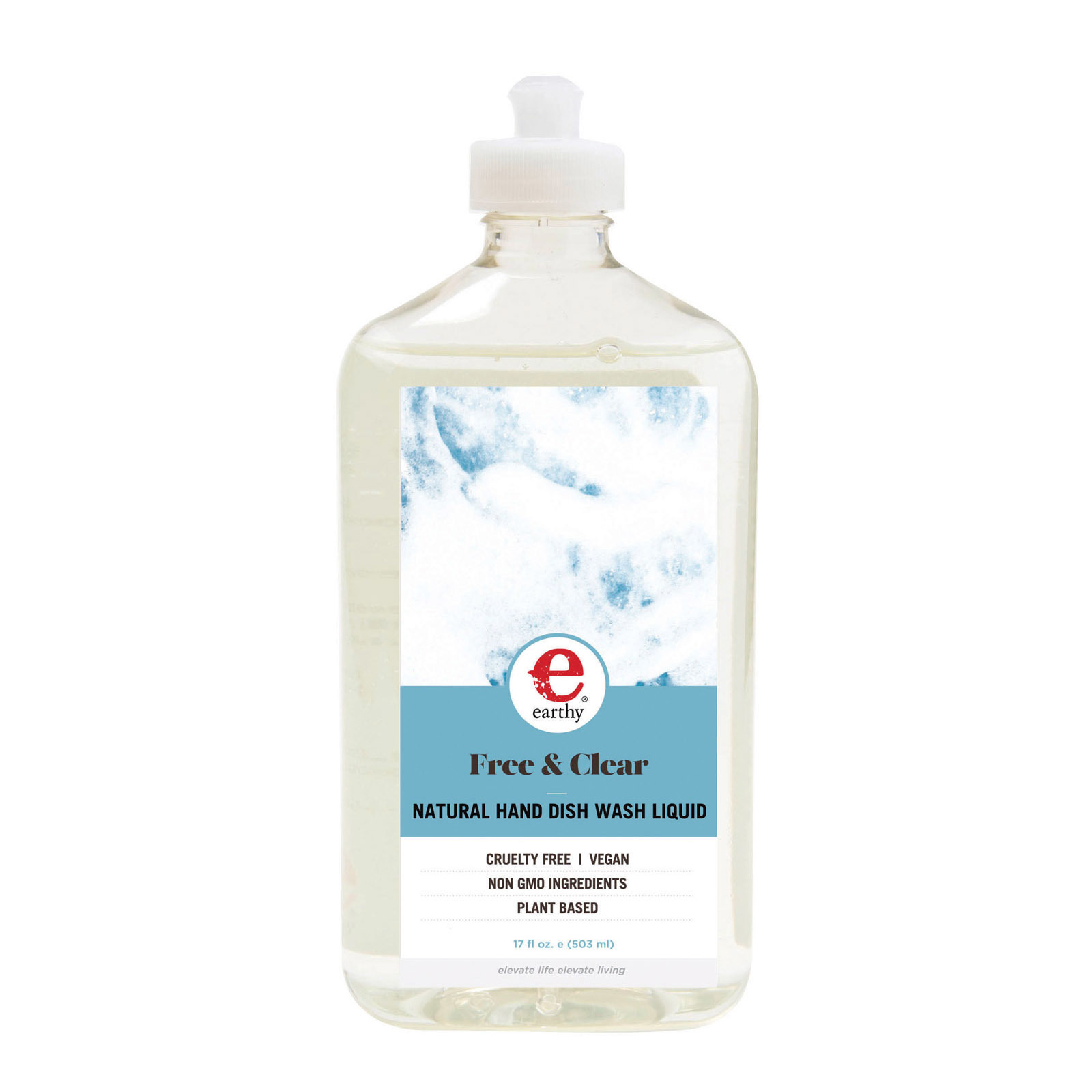 Earthy Free & Clear Liquid Natural Dish Soap - Case of 6 - 17 fl oz