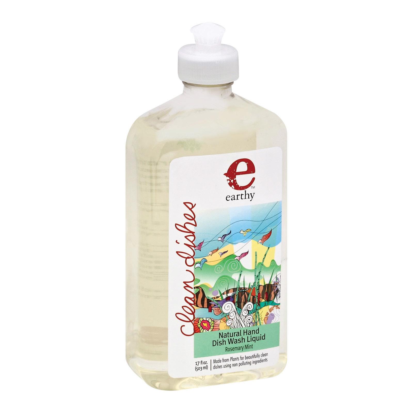 Earthy Natural Dish Liquid - Rosemary Mint - Case of 6 - 17 fl oz