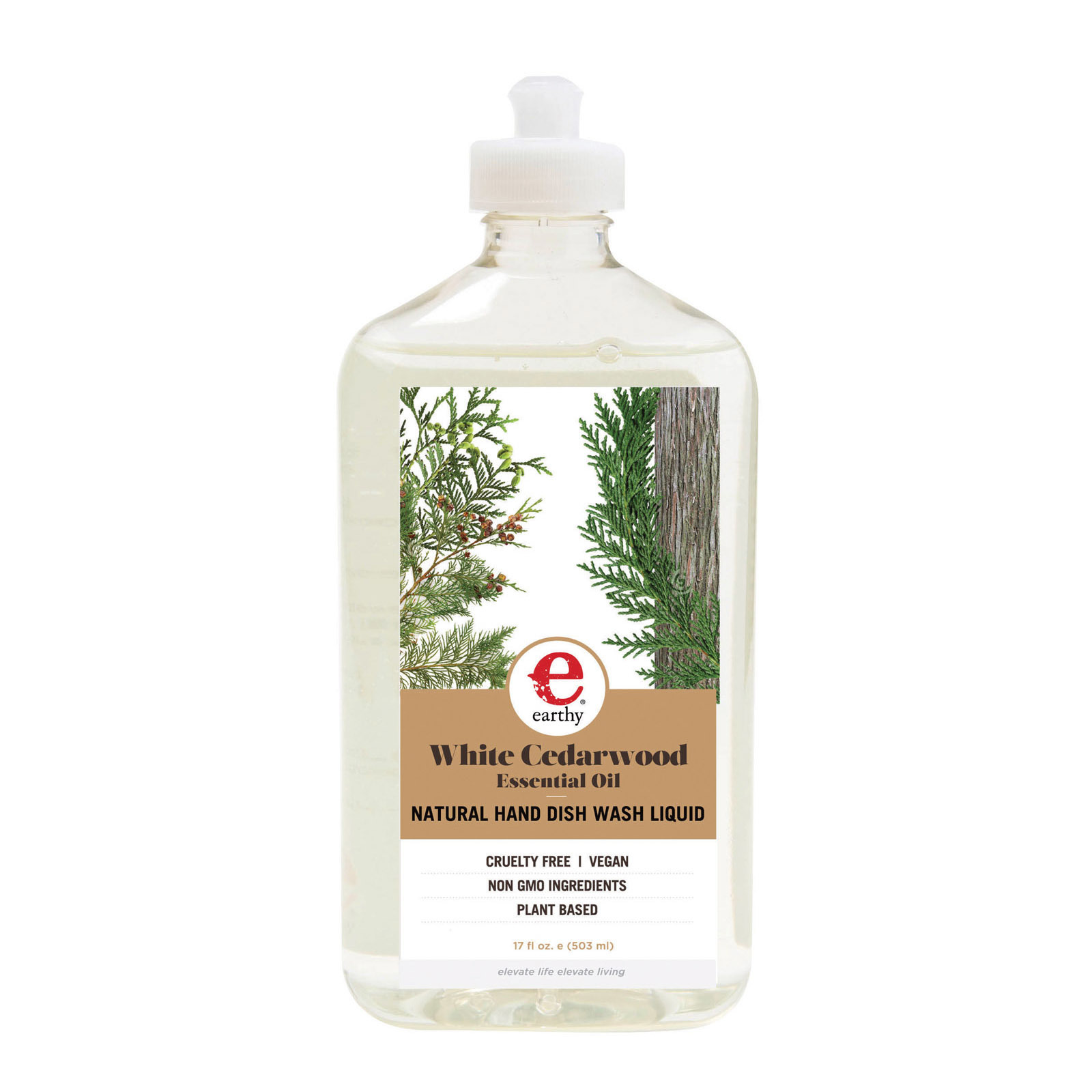 Earthy Dish Liquid - Natural White Cedarwood - Case of 6 - 17 fl oz