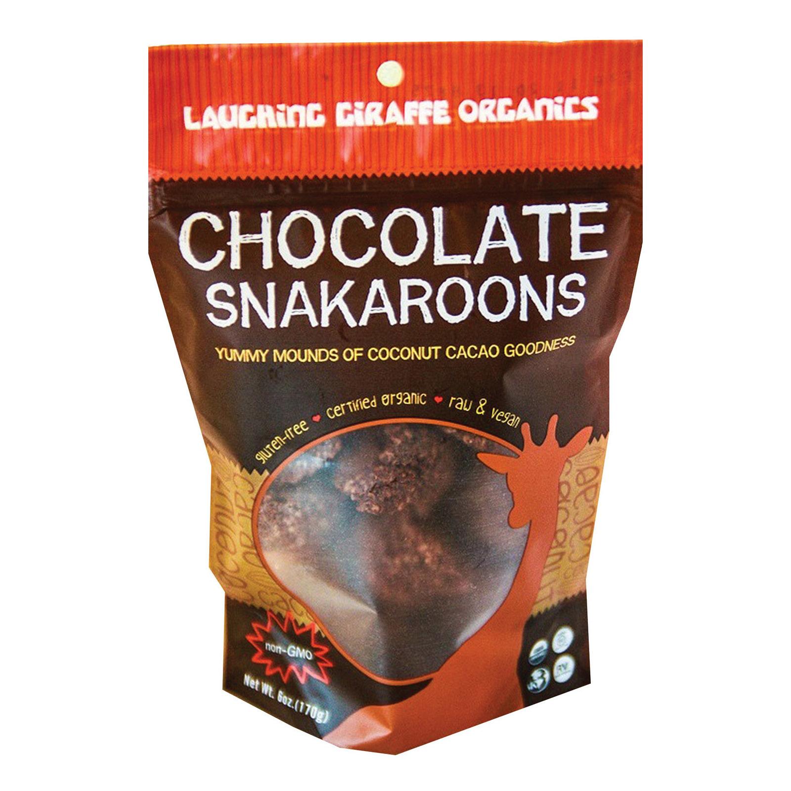 Laughing Giraffe Organics Snakaroons - Chocolate - Case of 8 - 6 oz.