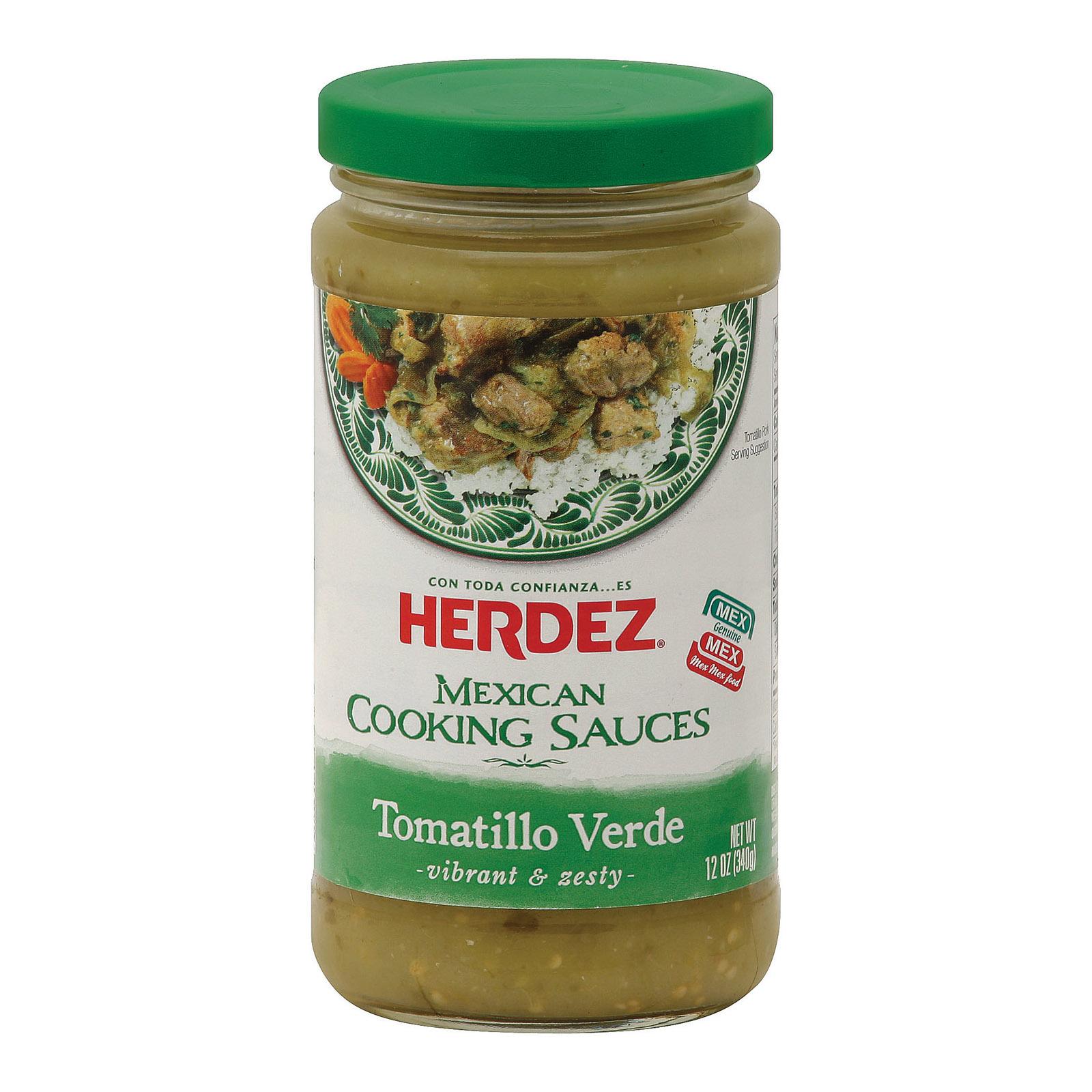 Herdez Cooking Sauce - Tomatillo Verde - Case of 6 - 12 oz.