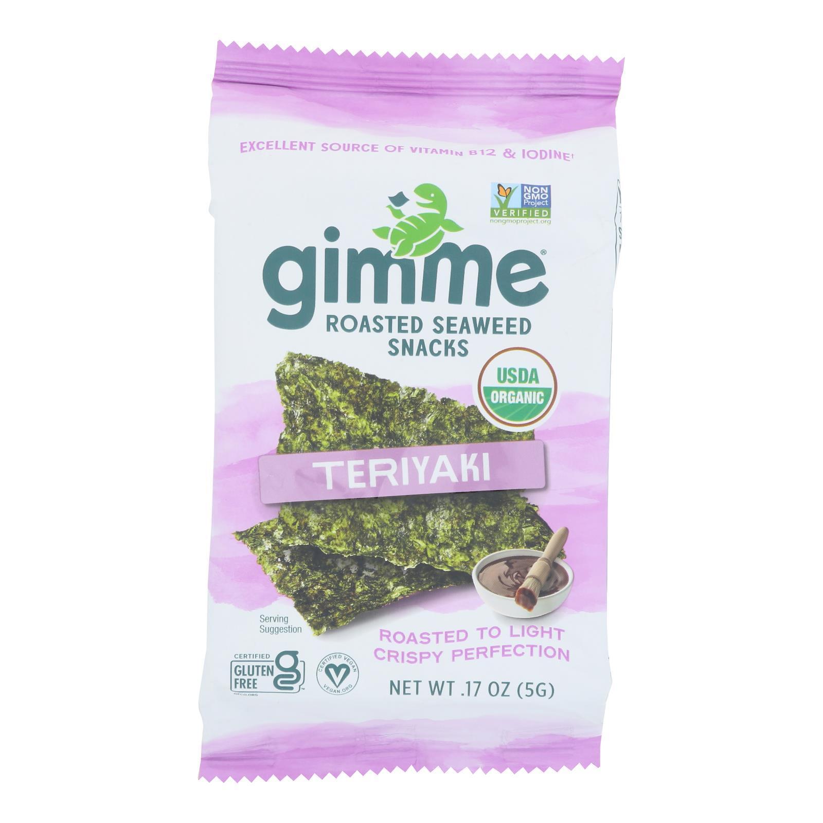 Gimme Organic Roasted Teriyaki - Case of 12 - 0.17 oz.