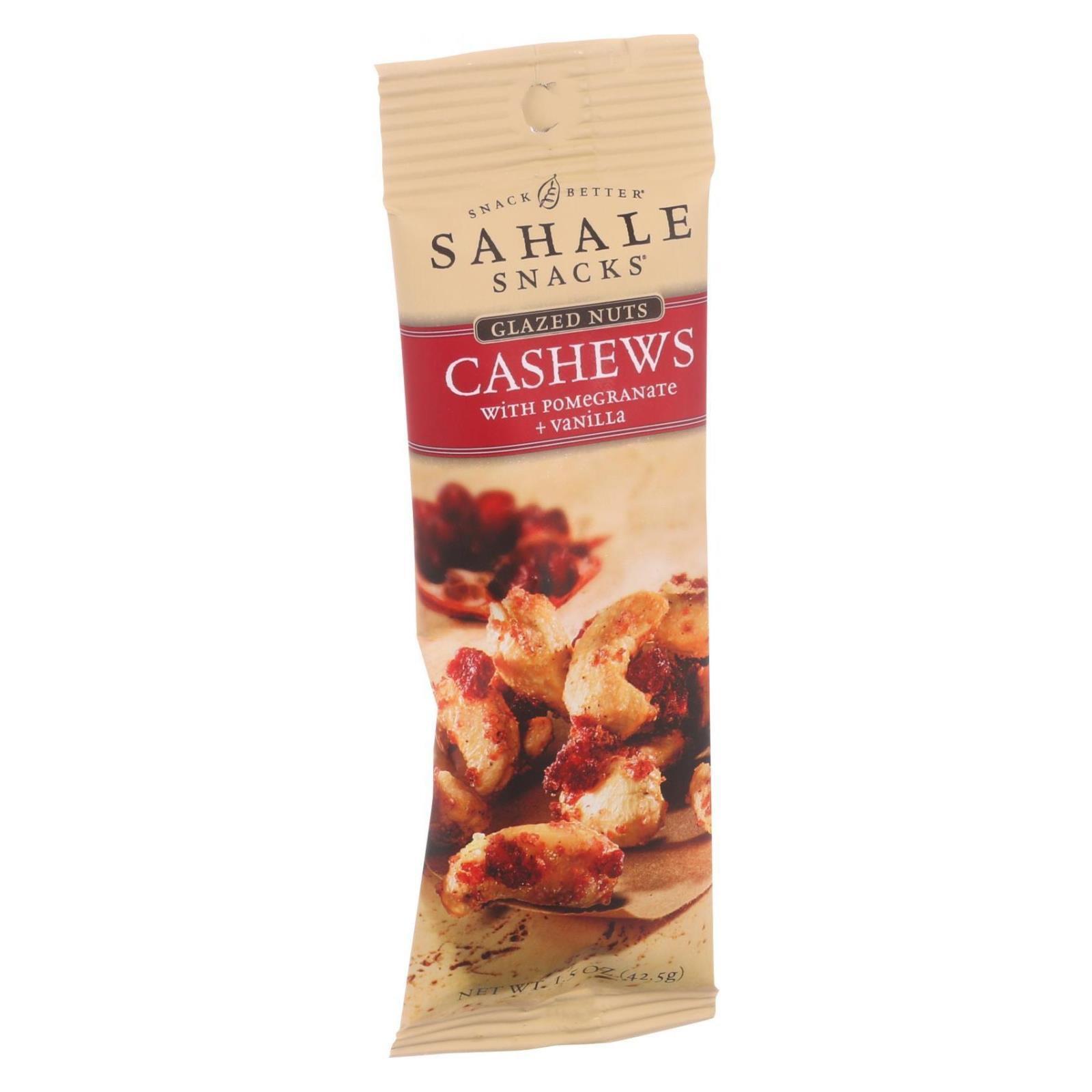 Sahale Snacks Glazed Nuts - Cashews with Pomegranate and Vanilla - 1.5 oz - Case of 9