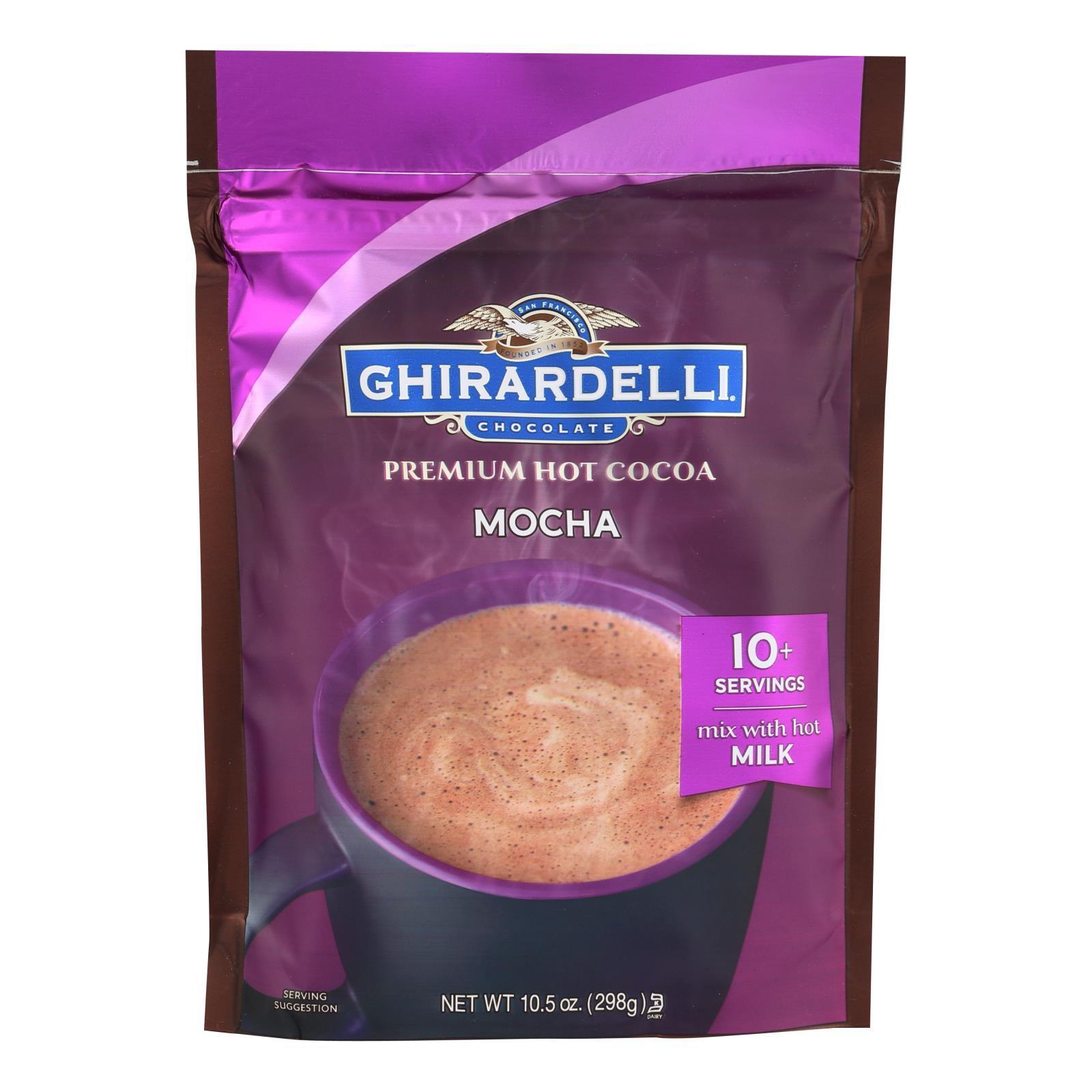 Ghirardelli Hot Cocoa - Premium - Chocolate Mocha - 10.5 oz - case of 6