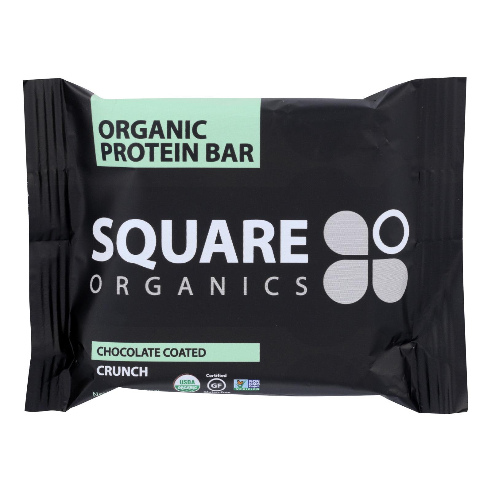Squarebar Organic Protein Bar - Cocoa Crunch - 1.7 oz - Case of 12