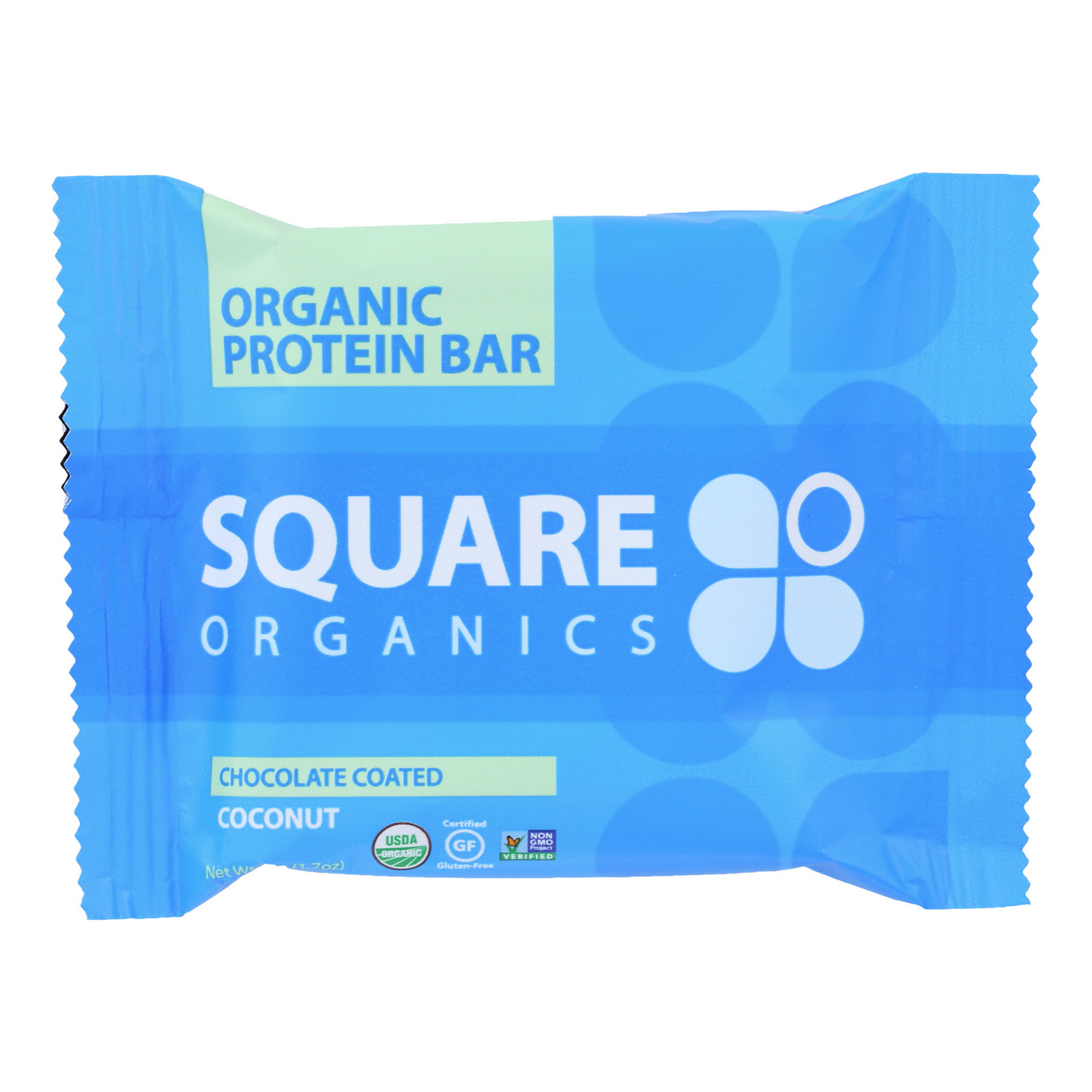 Squarebar Organic Protein Bar - Cocoa Coconut - 1.7 oz - Case of 12