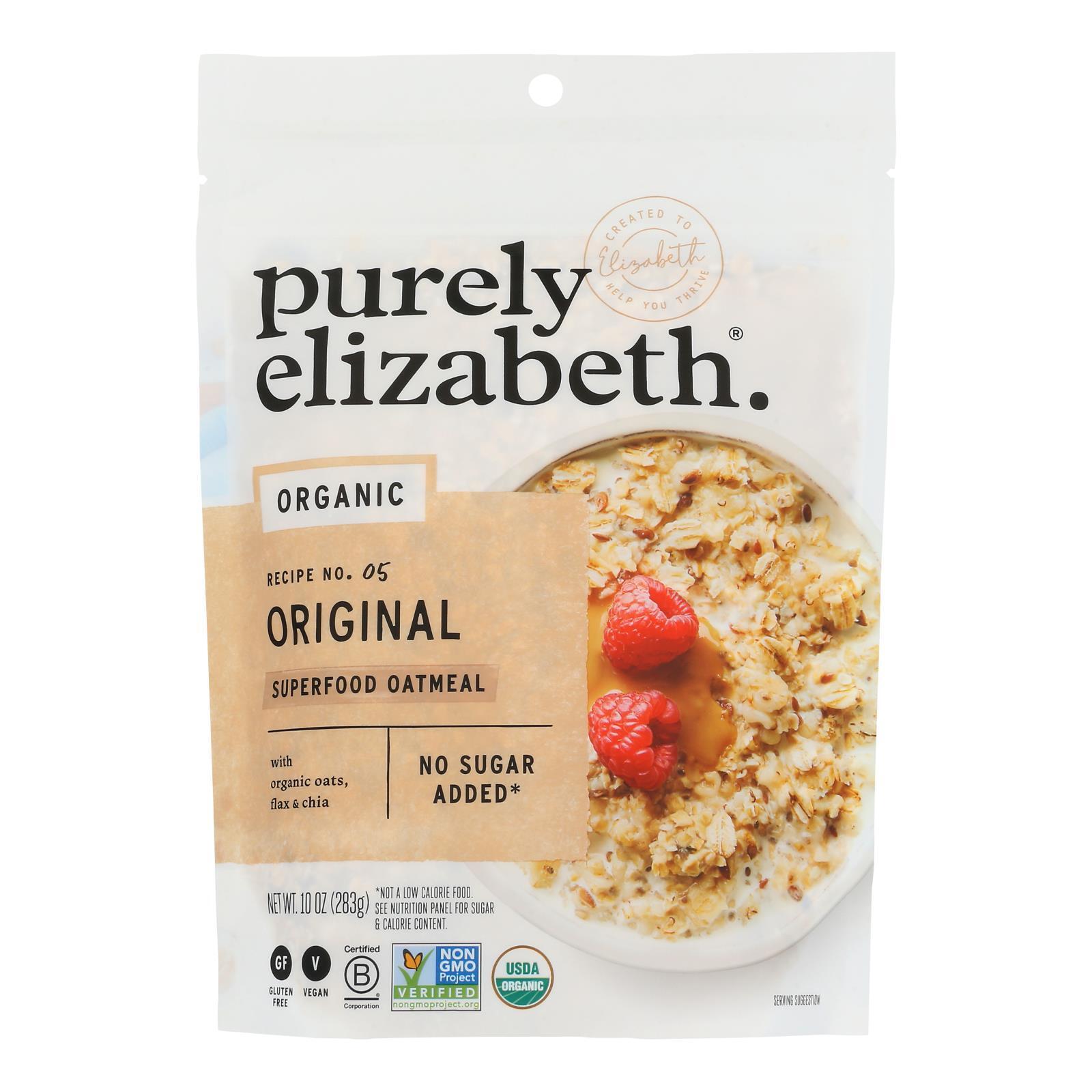 Purely Elizabeth Oatmeal - Organic - Ancient Grain - Original - 10 oz - case of 6