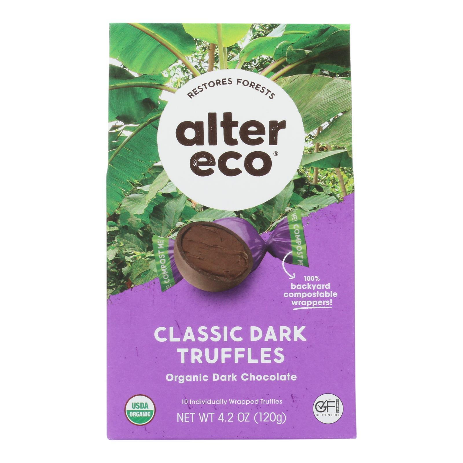 Alter Eco Americas Truffle - Organic - Black - 10 pack - 4.2 oz - case of 8