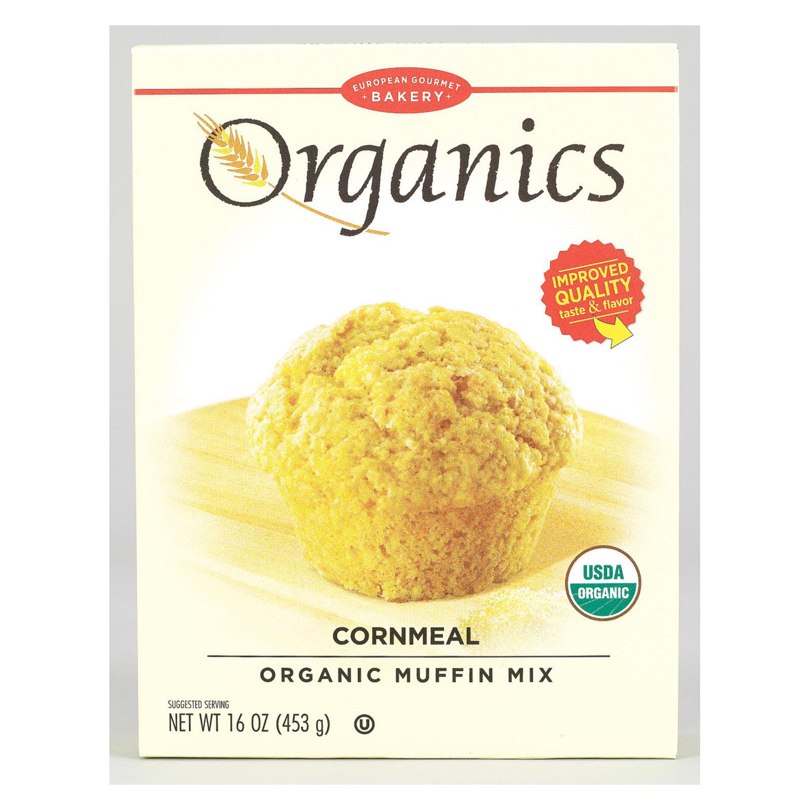 European Gourmet Bakery Organic Cornmeal Muffin Mix - Cornmeal - Case of 12 - 16 oz.