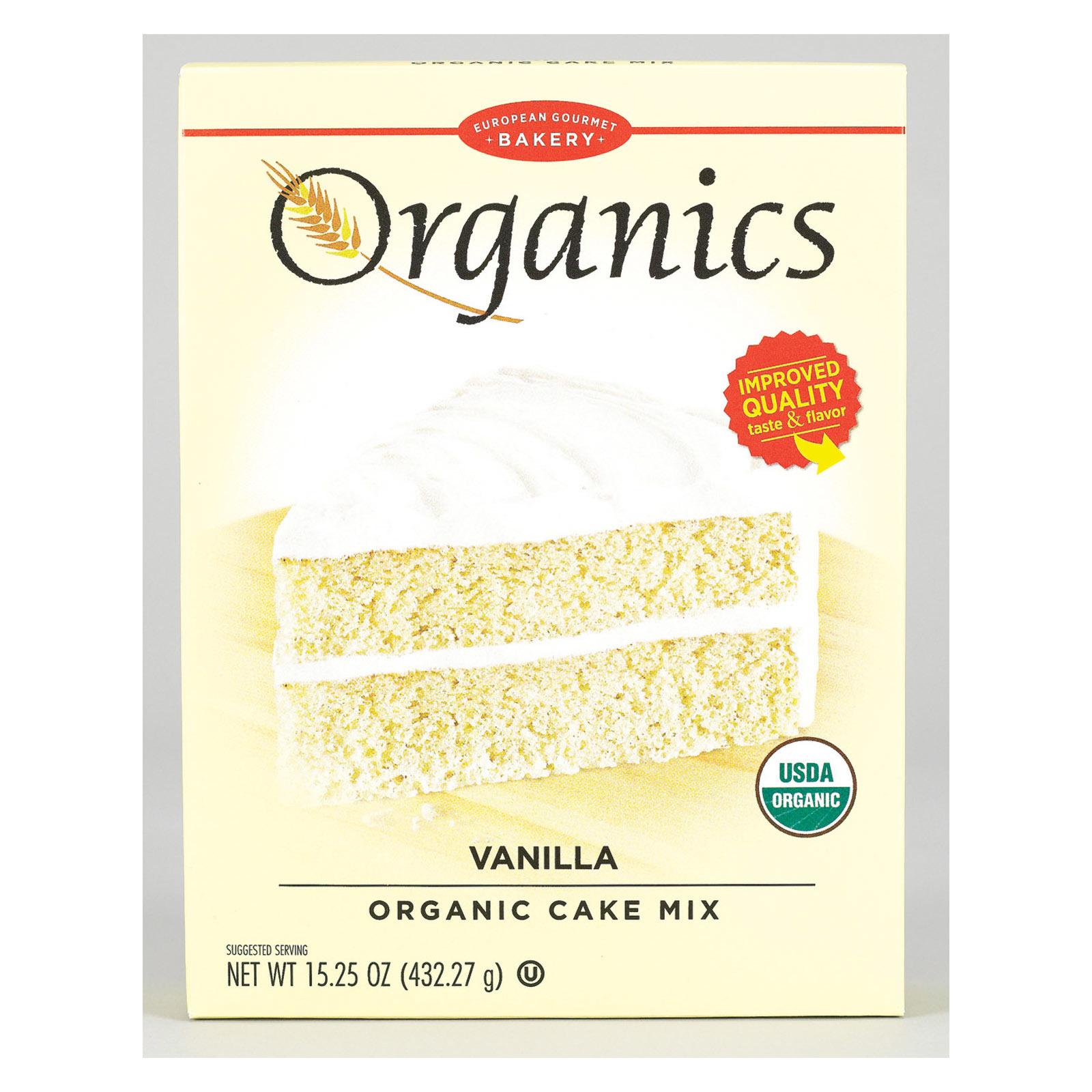 European Gourmet Bakery Organic Vanilla Cake Mix - Vanilla - 15.25 oz.