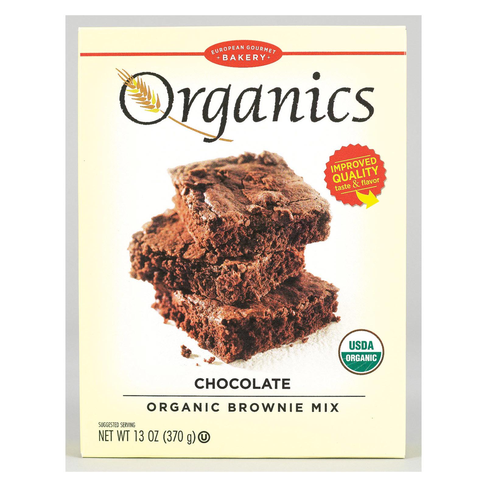 European Gourmet Bakery Organic Chocolate Brownie Mix - Chocolate Brownie Mix - 13 oz.