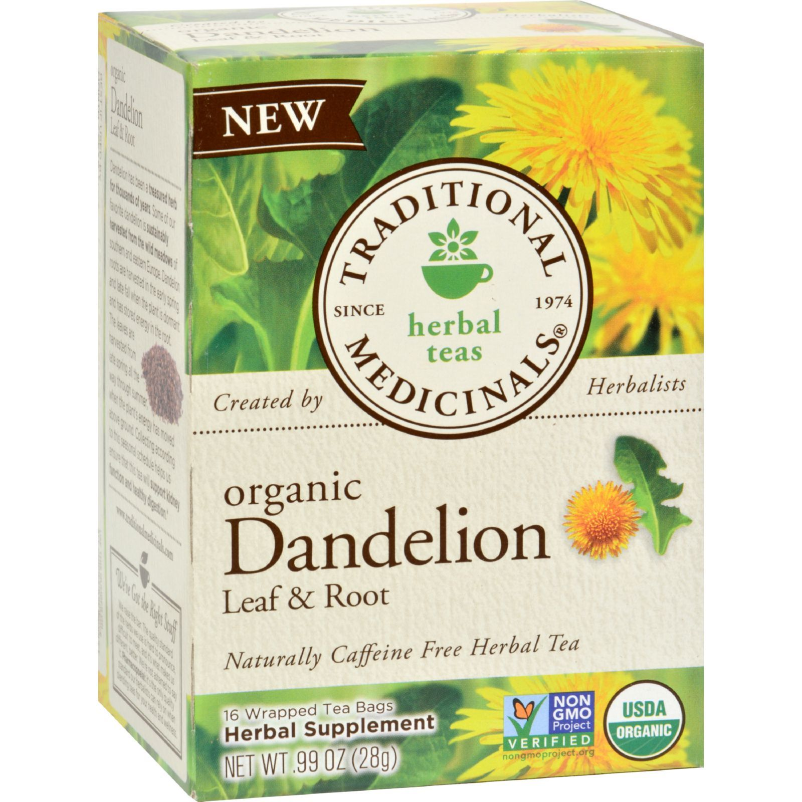 Traditional Medicinals Tea - Organc - Hrbl - Dndln Leaf Rt - 16 ct - 1 Case