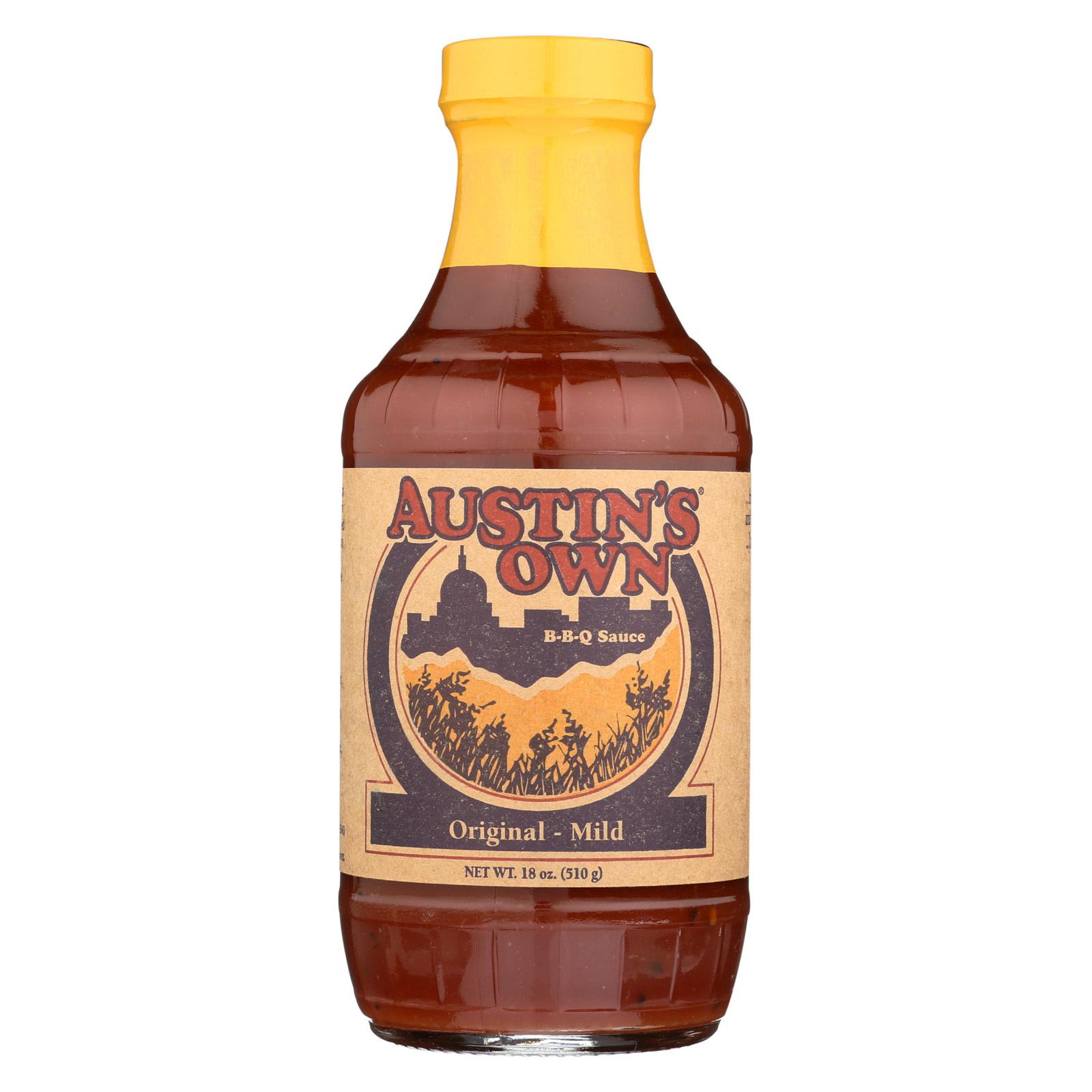 Austins Own BBQ Sauce - Original - Case of 6 - 18 oz