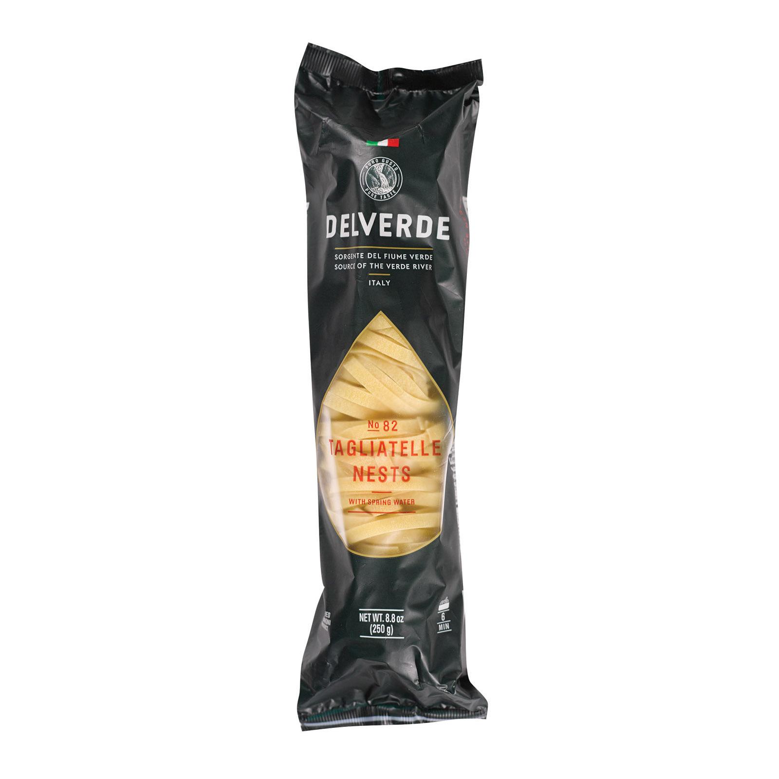 Delverde Tagliatelle Nest Pasta - Case of 12 - 8.8 oz.