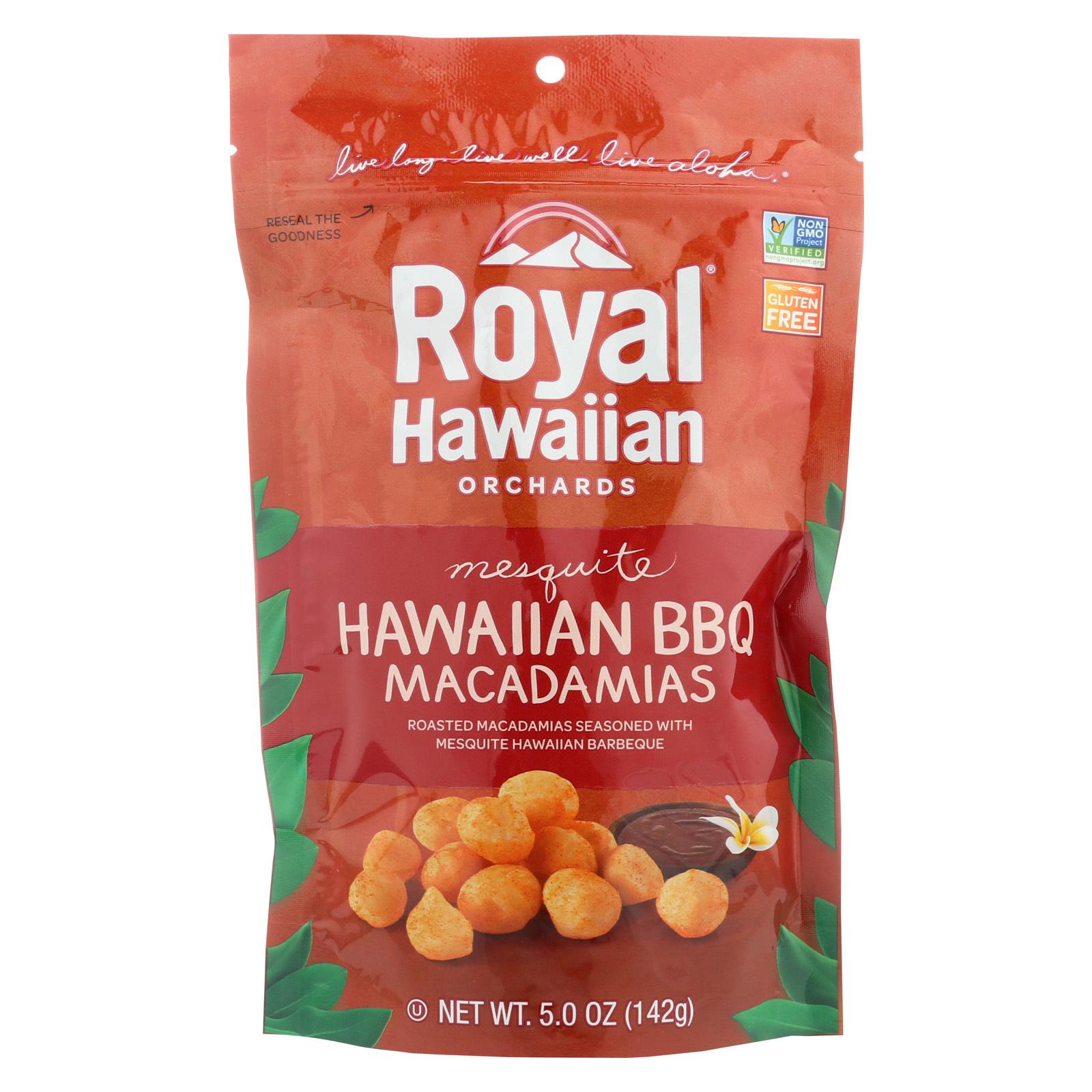 Royal Hawaiian Orchards Macadamias - Hawaiian BBQ - Case of 6 - 5 oz.