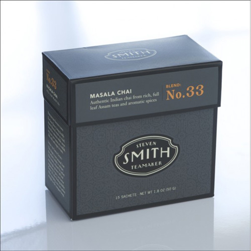 Smith Teamaker Tea - Masala Chai - Case of 6 - 15 Bags