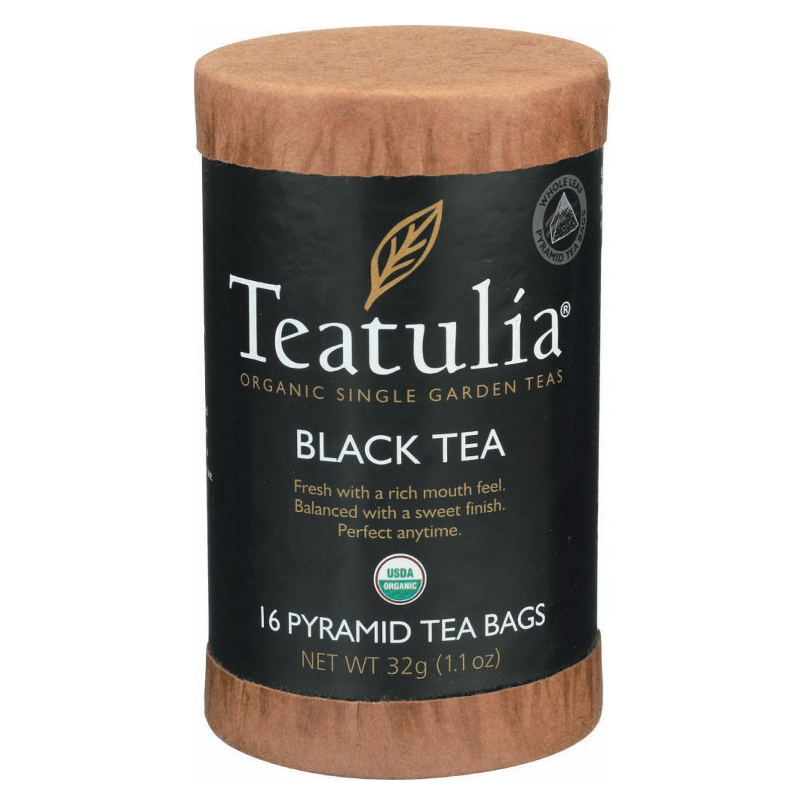 Teatulia Organic Teatulia Black Tea - Case of 6 - 16 BAG
