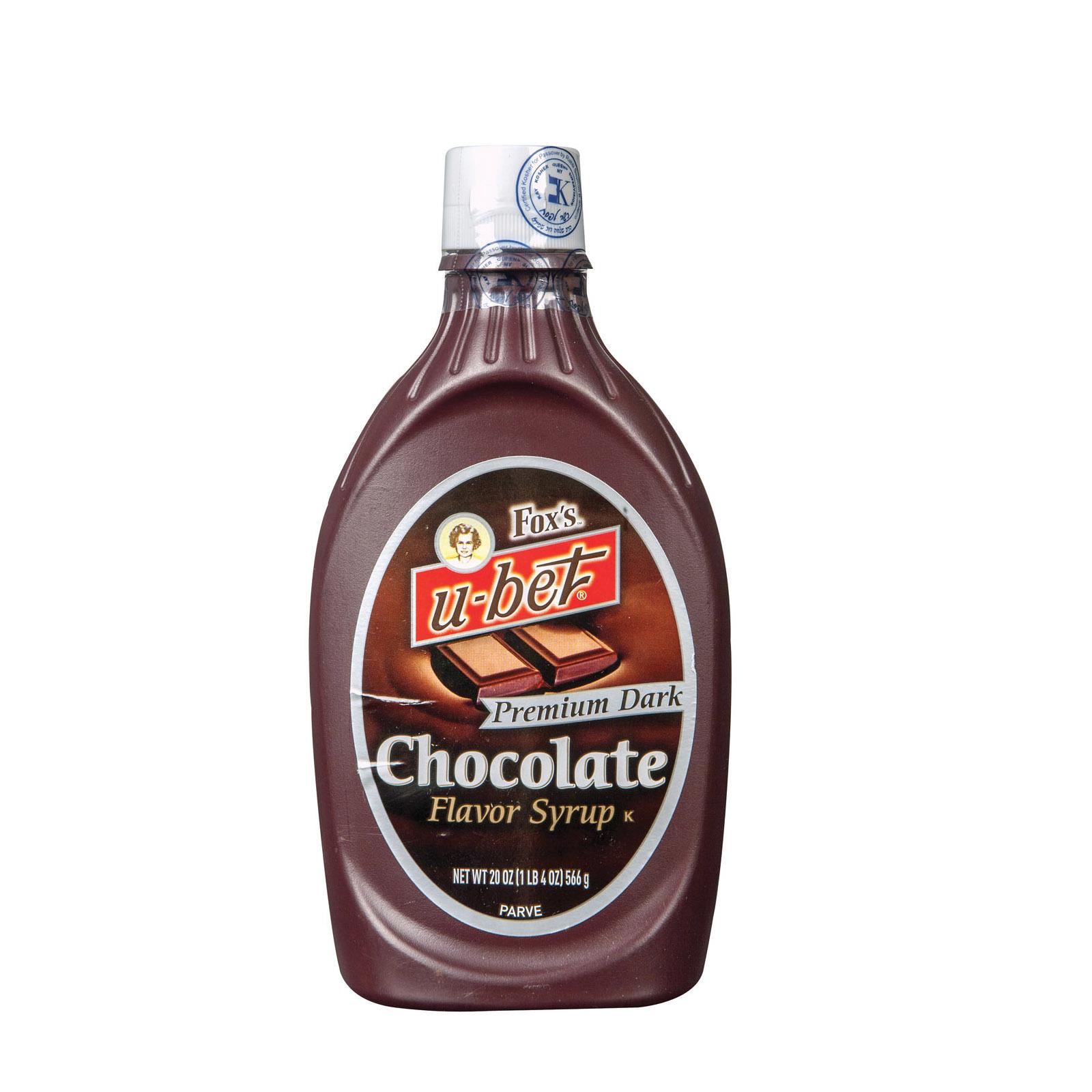 Fox's U - Bet Premium Dark Chocolate - Dark Chocolate - Case of 12 - 20 oz.