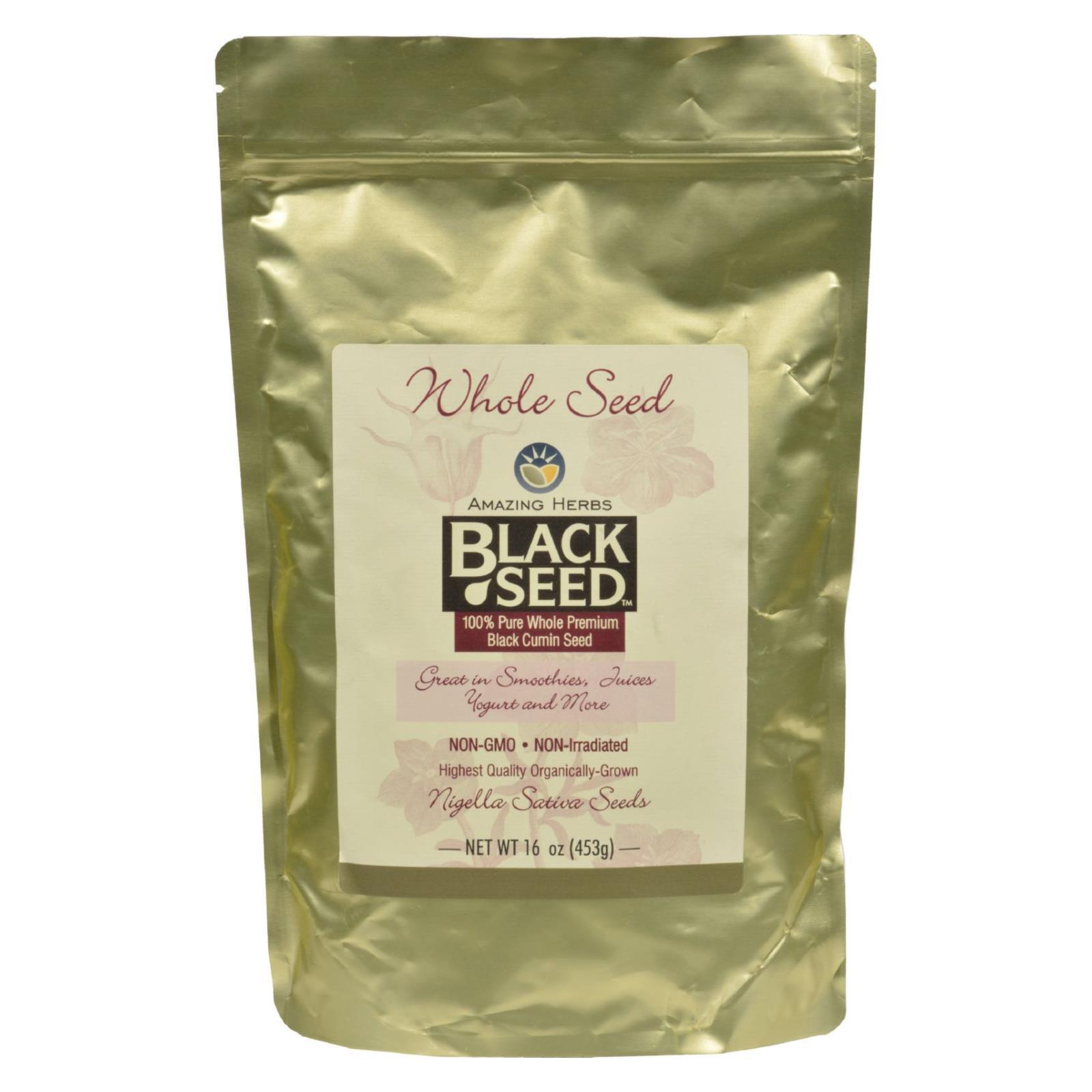 Amazing Herbs Black Seed Whole Seed - 16 oz