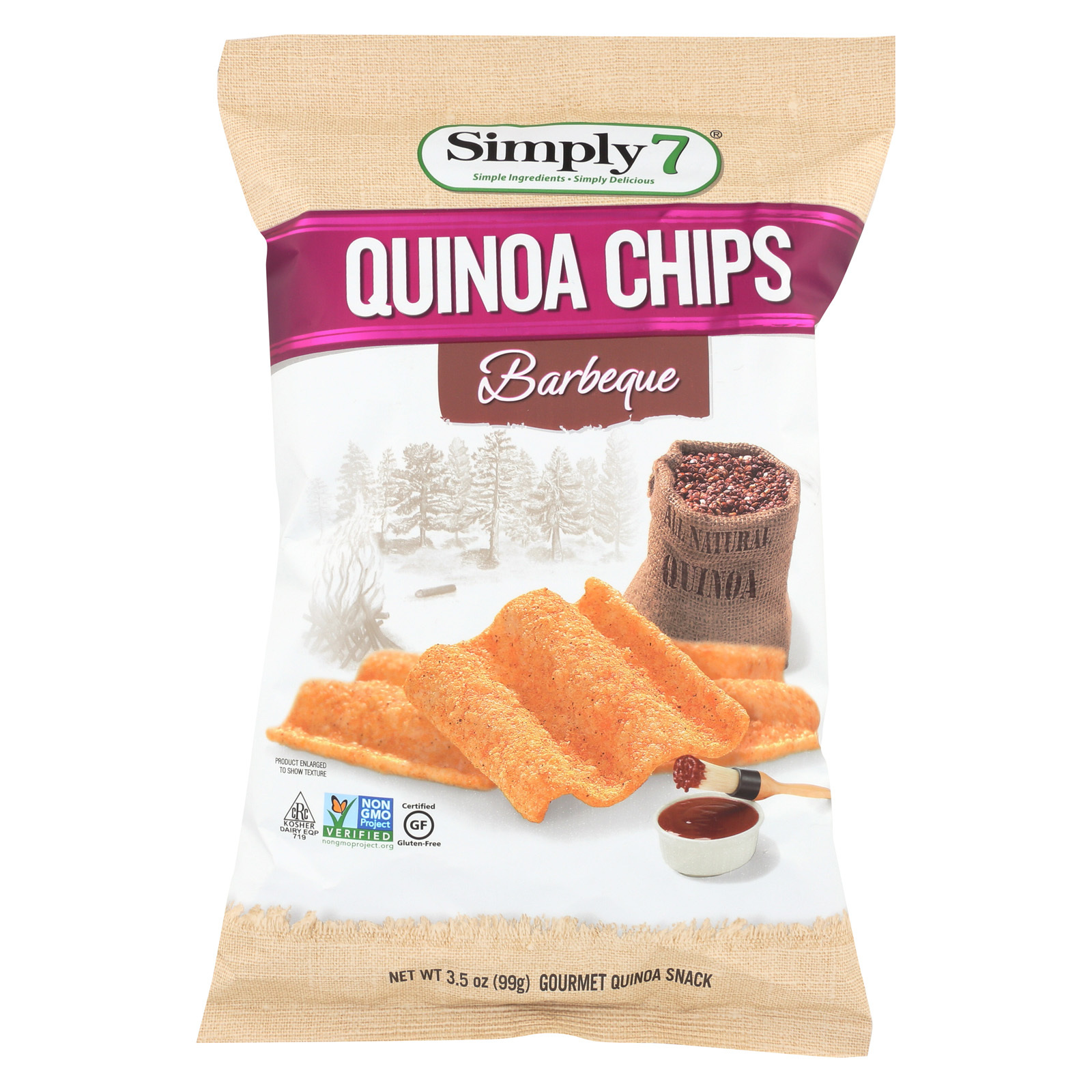 Simply 7 Quinoa Chips - Barbecue - Case of 12 - 3.5 oz.