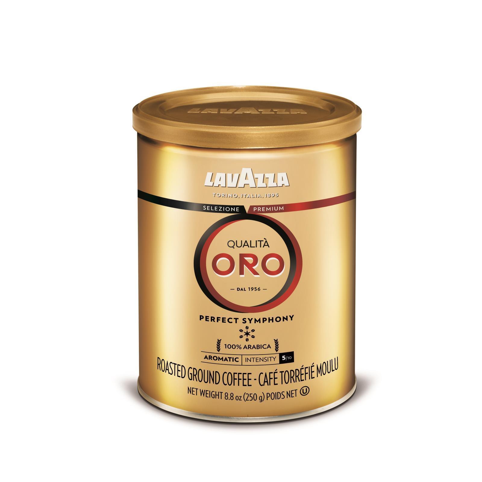 Lavazza Ground Coffee - Qualita Oro Canned - Case of 12 - 8.8 oz