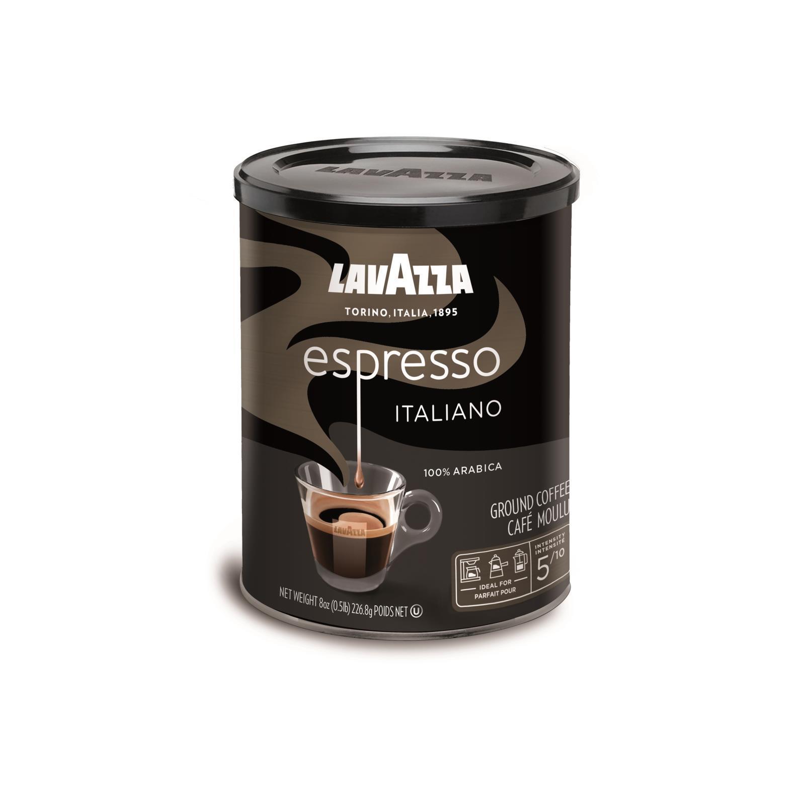Lavazza Ground Coffee - Espresso Canned - Case of 12 - 8 oz