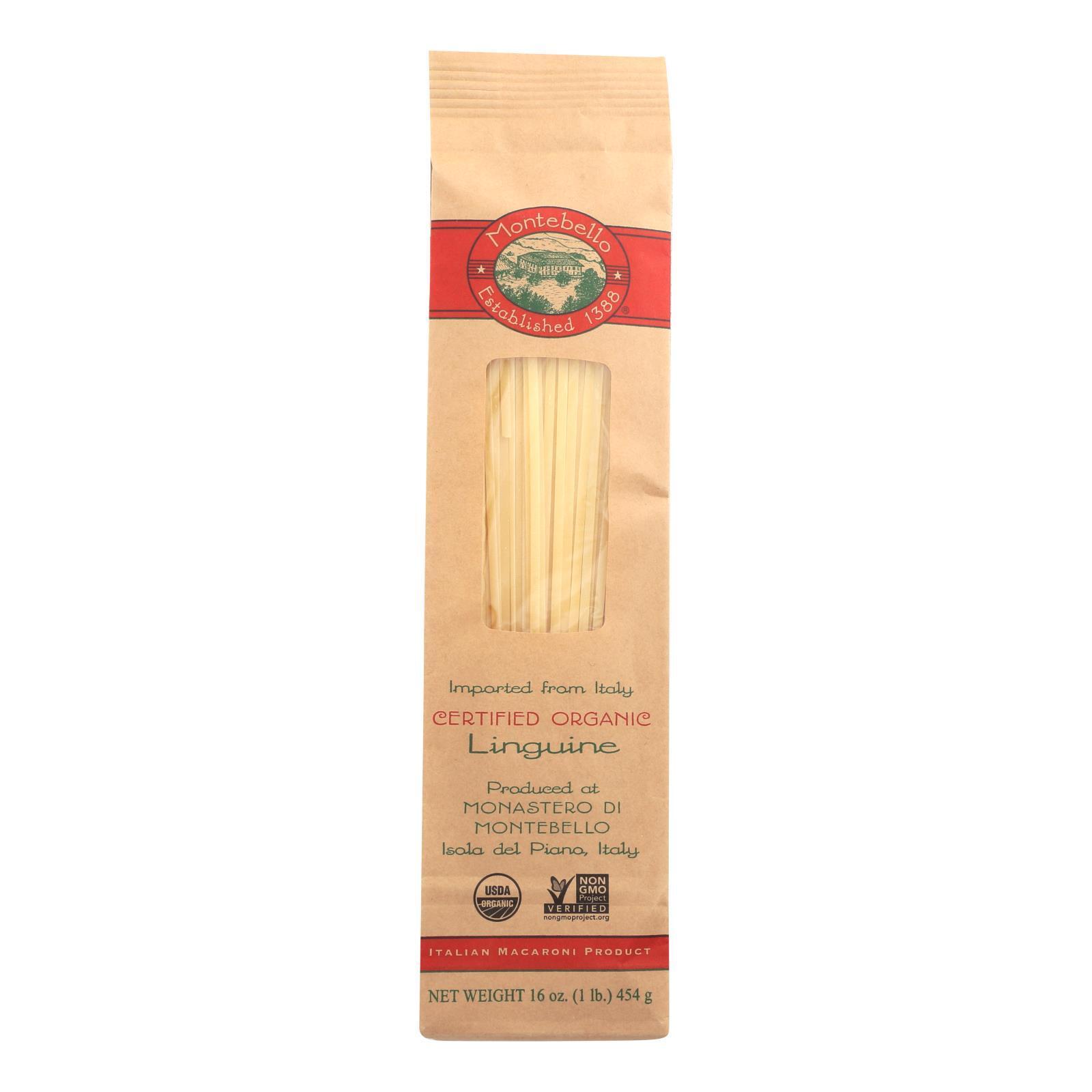Montebello Organic Pasta - Linguini - Case of 12 - 1 lb.