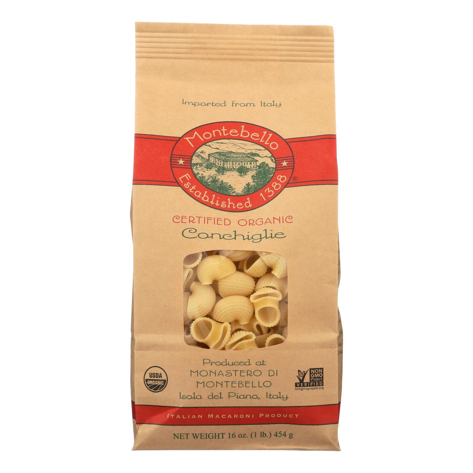 Montebello Organic Pasta - Conchiglia - Case of 12 - 1 lb.